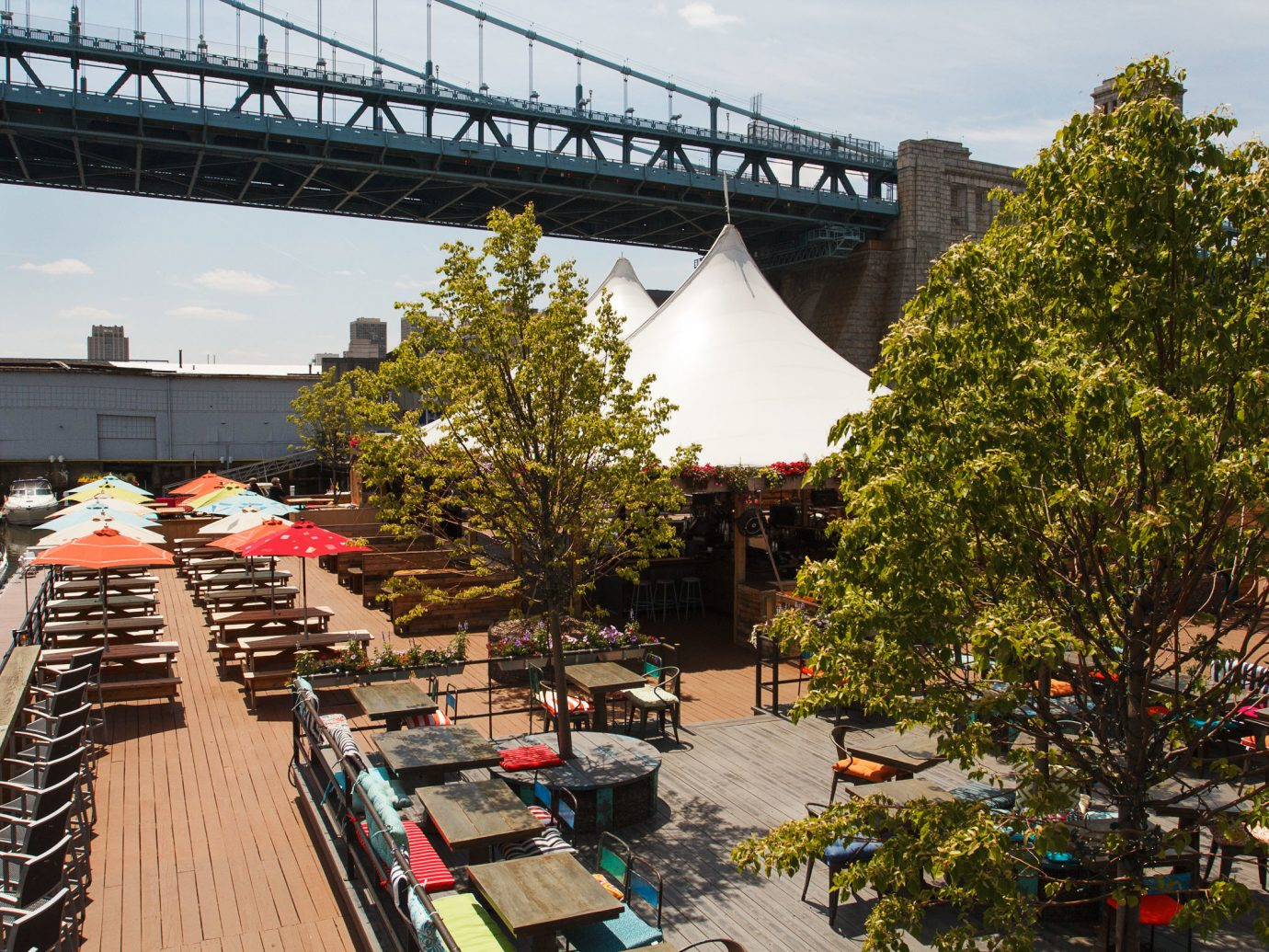 Arts + Culture tree outdoor sky bridge building transport City neighbourhood urban area tourism Downtown long cityscape travel traveling railroad