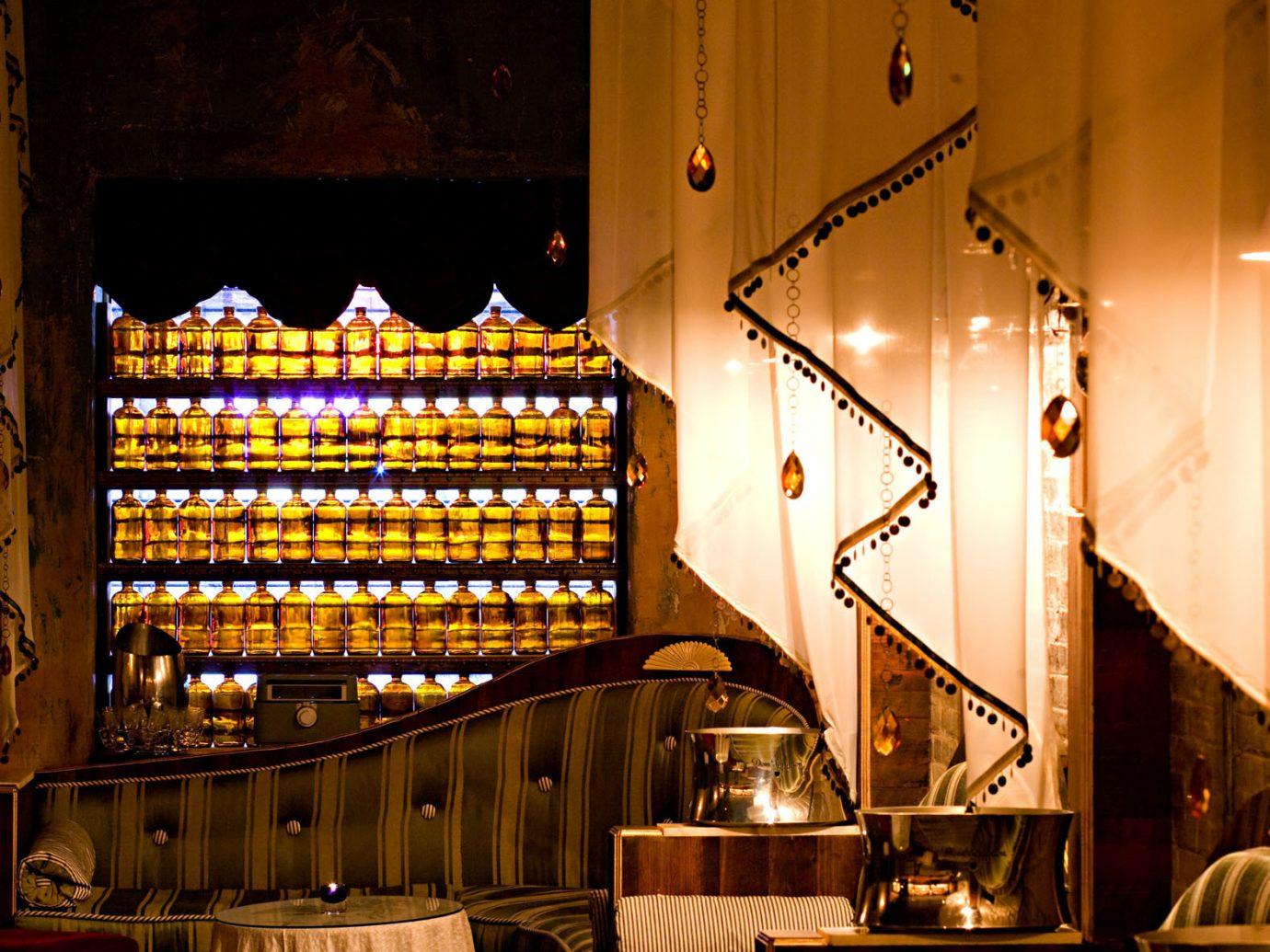 Food + Drink Romance indoor light night restaurant lighting interior design Bar Design