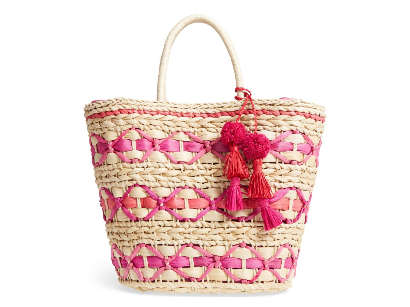 Trip Ideas pink handbag product bag shoulder bag magenta basket tote bag accessory