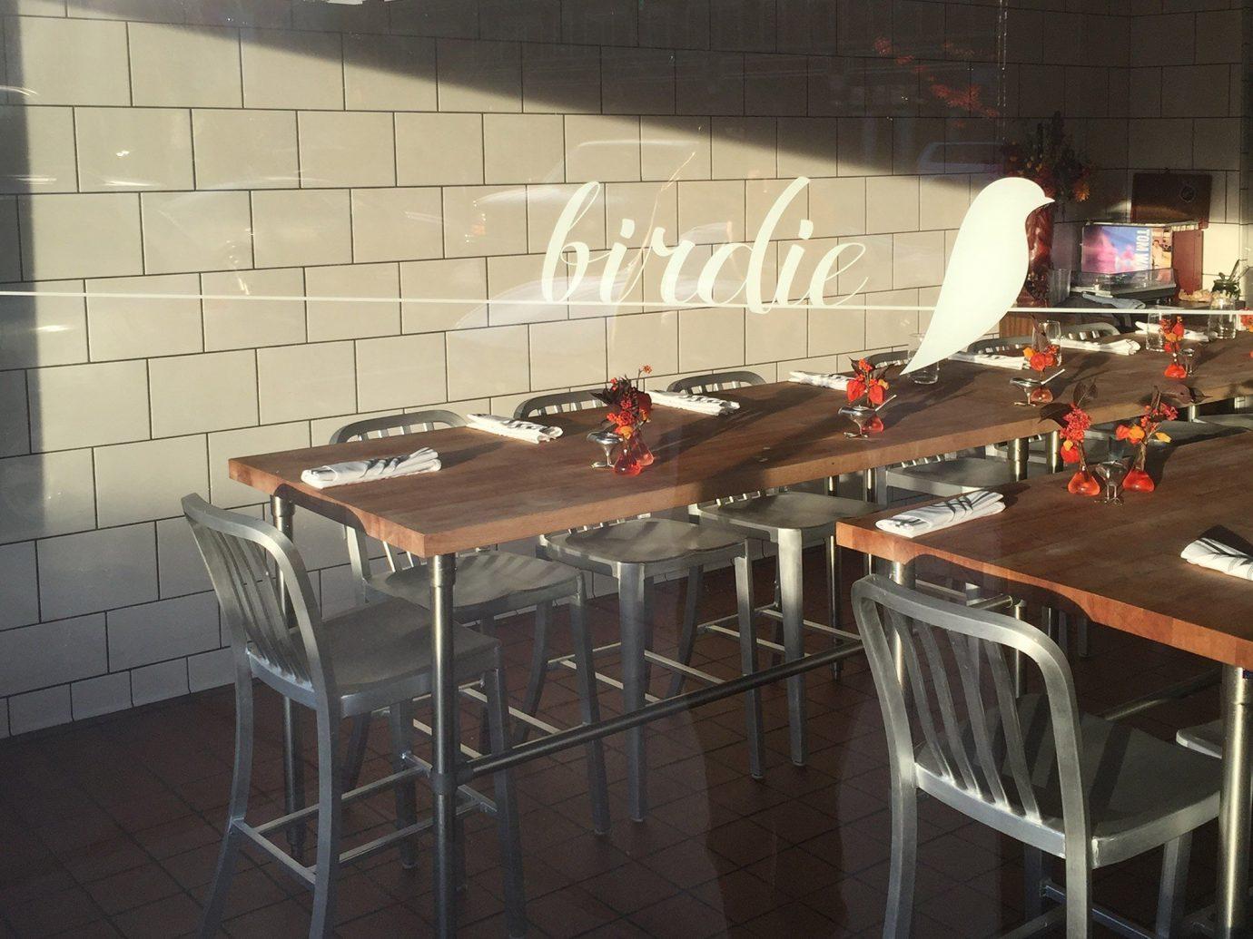Food + Drink floor restaurant metal table meal Bar