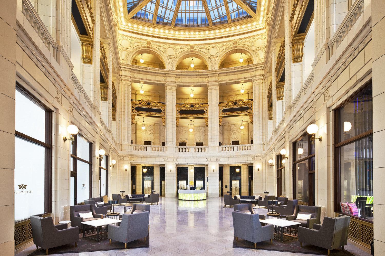 Trip Ideas building indoor Lobby ceiling interior design function hall daylighting hall estate