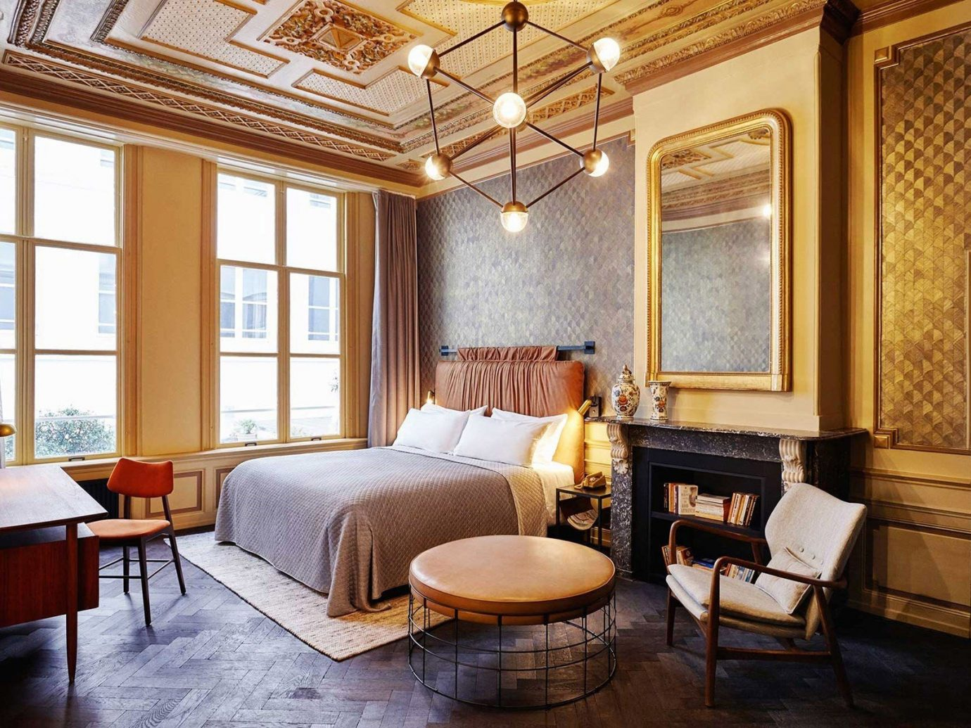 Amsterdam Boutique Hotels Hotels The Netherlands window indoor floor room property living room chair estate Living home Suite hardwood interior design cottage real estate farmhouse ceiling mansion wood Villa furniture wood flooring Bedroom area