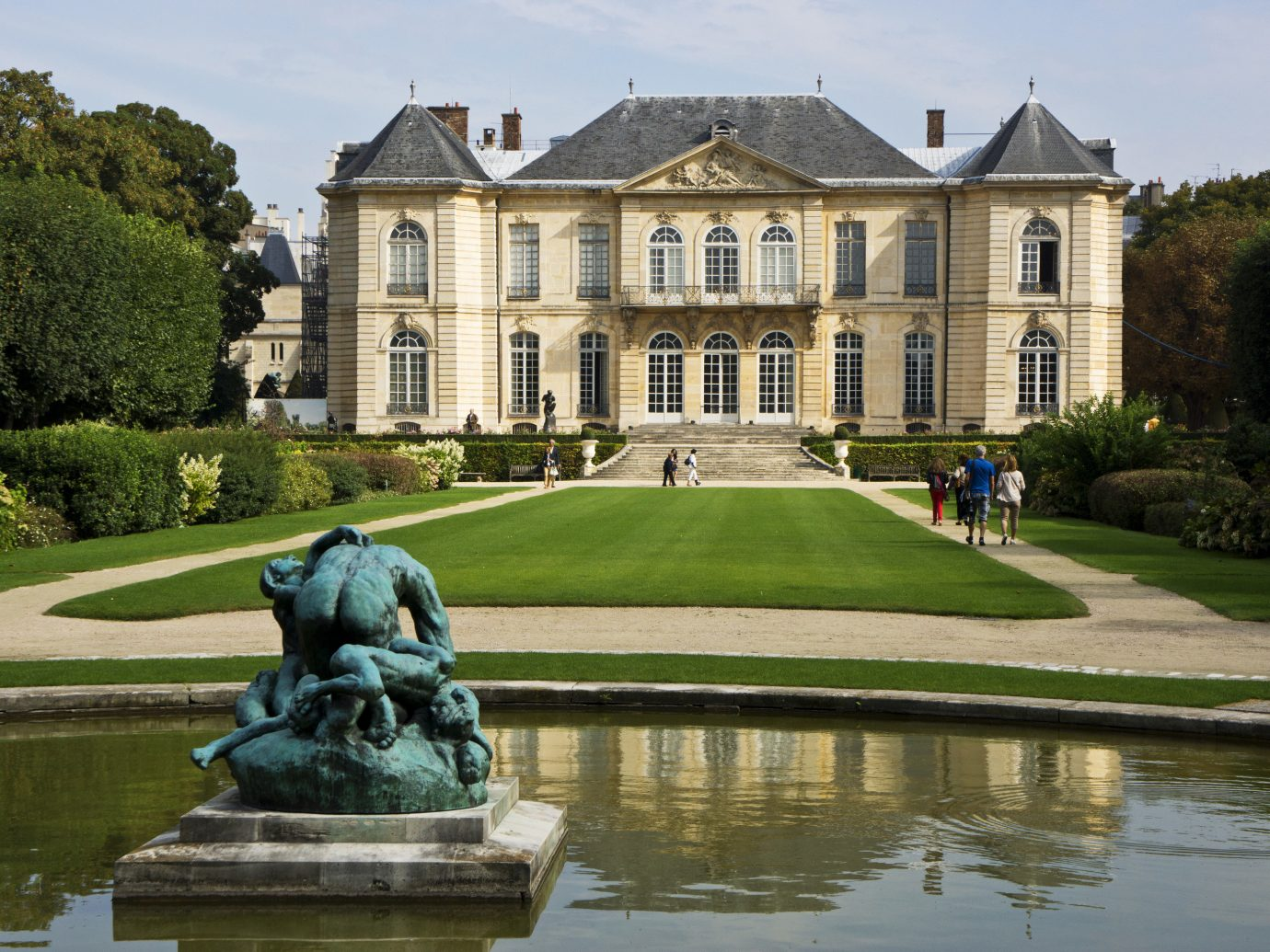 France Paris Trip Ideas outdoor grass water tree sky building stately home château estate Lake pond park castle green reflecting pool home manor house mansion palace Garden lawn waterway old stone