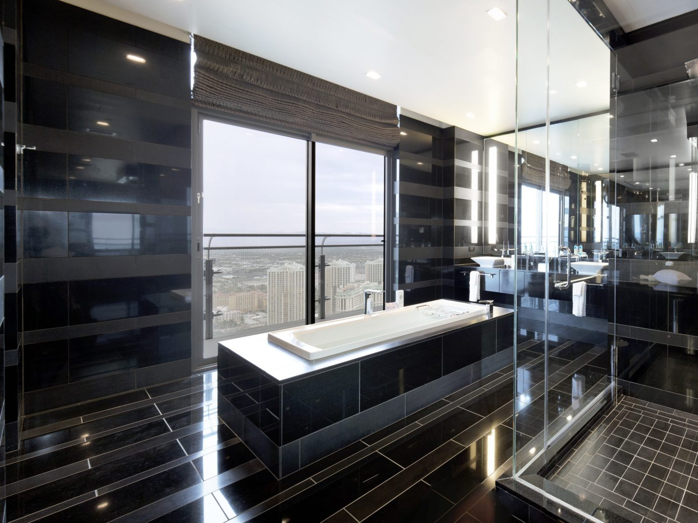 Bathtub overlooking las vegas in the Bentel & Bentel Penthouse Suites, The Cosmopolitan of Las Vegas
