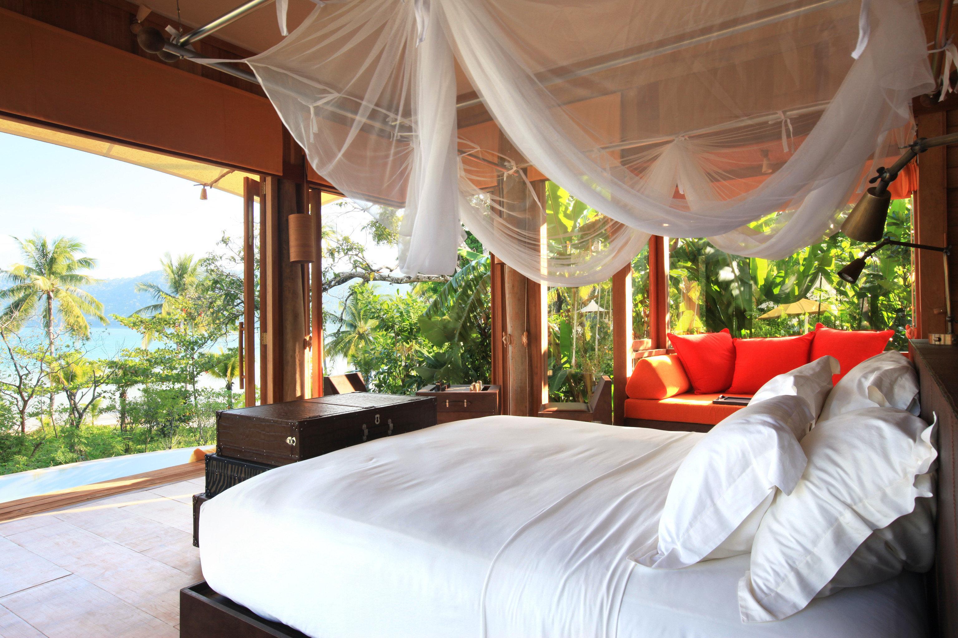 Bedroom Deck Hotels Pool Scenic views Suite property room Resort bed estate Villa real estate interior design cottage eco hotel
