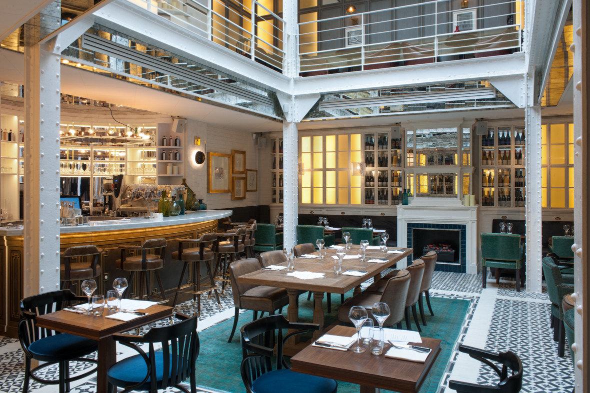 Food + Drink table chair property room restaurant interior design estate real estate Resort condominium Design area