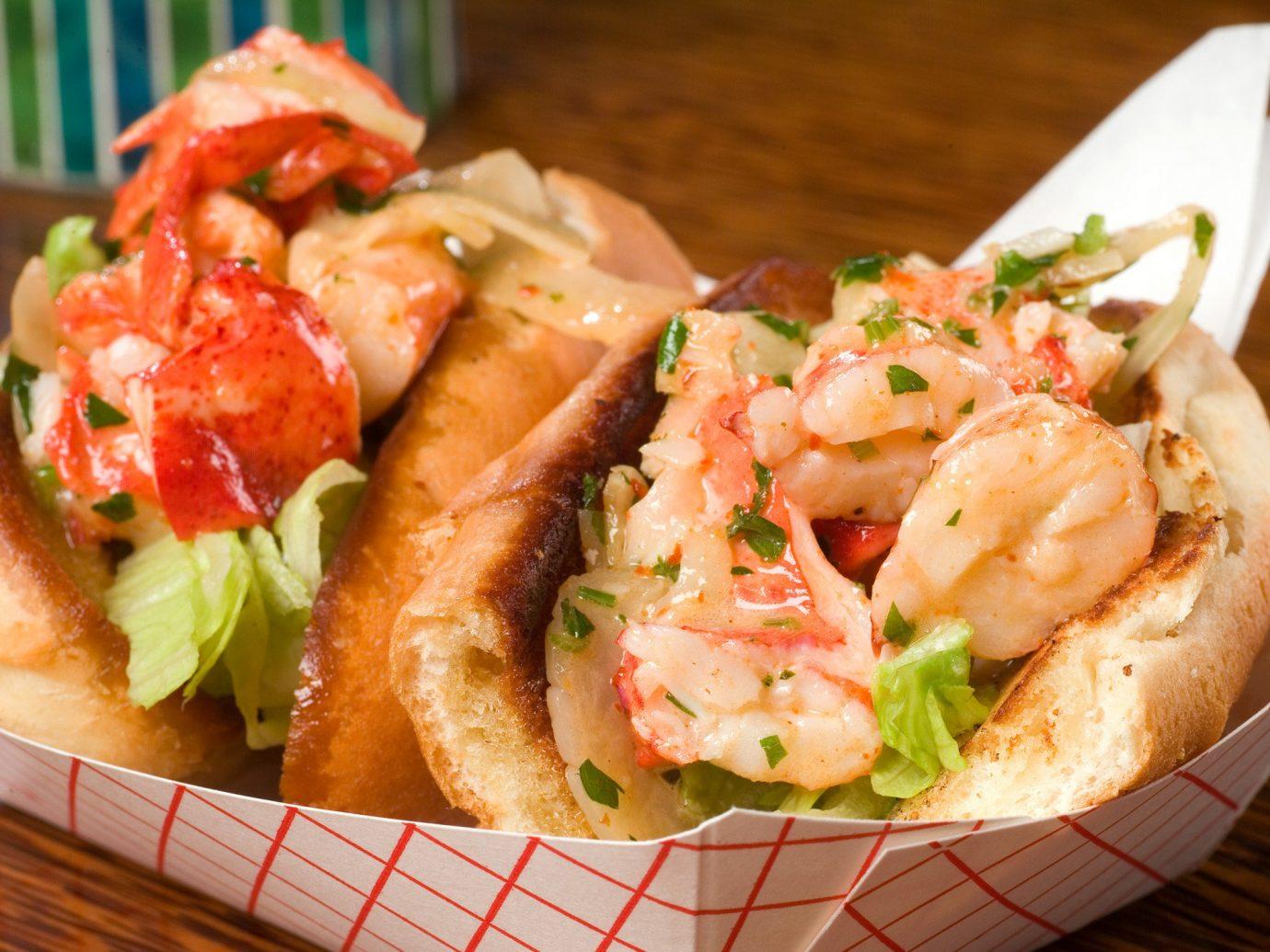 Food + Drink food plate dish indoor shrimp arthropod Seafood cuisine hors d oeuvre caridean shrimp scampi invertebrate bruschetta decapoda meal crustacean animal source foods