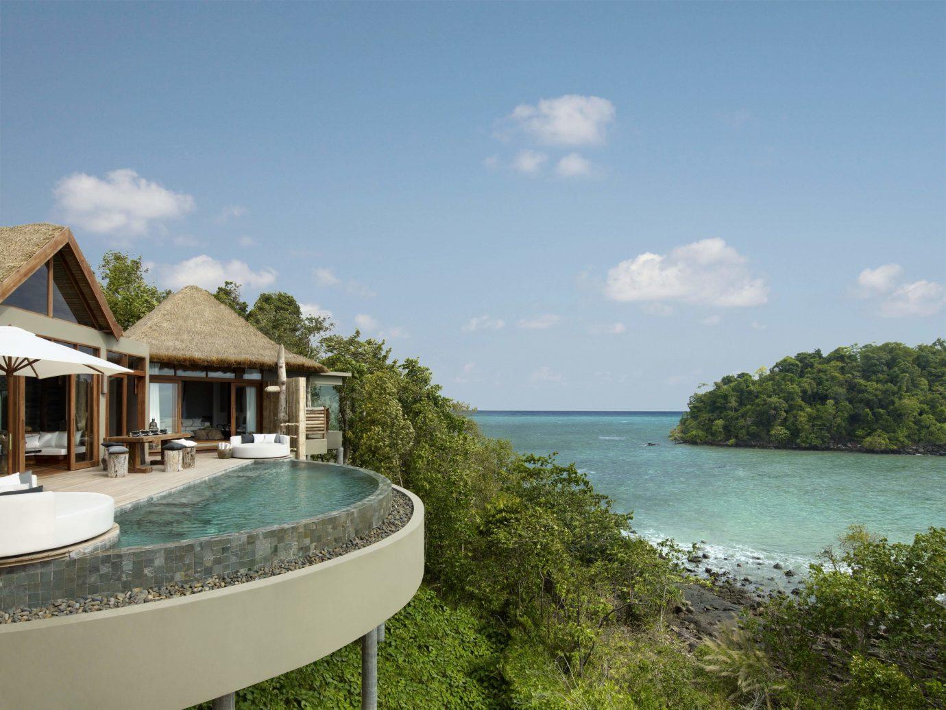 All-Inclusive Resorts Hotels Luxury Travel sky outdoor property vacation swimming pool estate Resort bay Sea Villa Lagoon caribbean shore