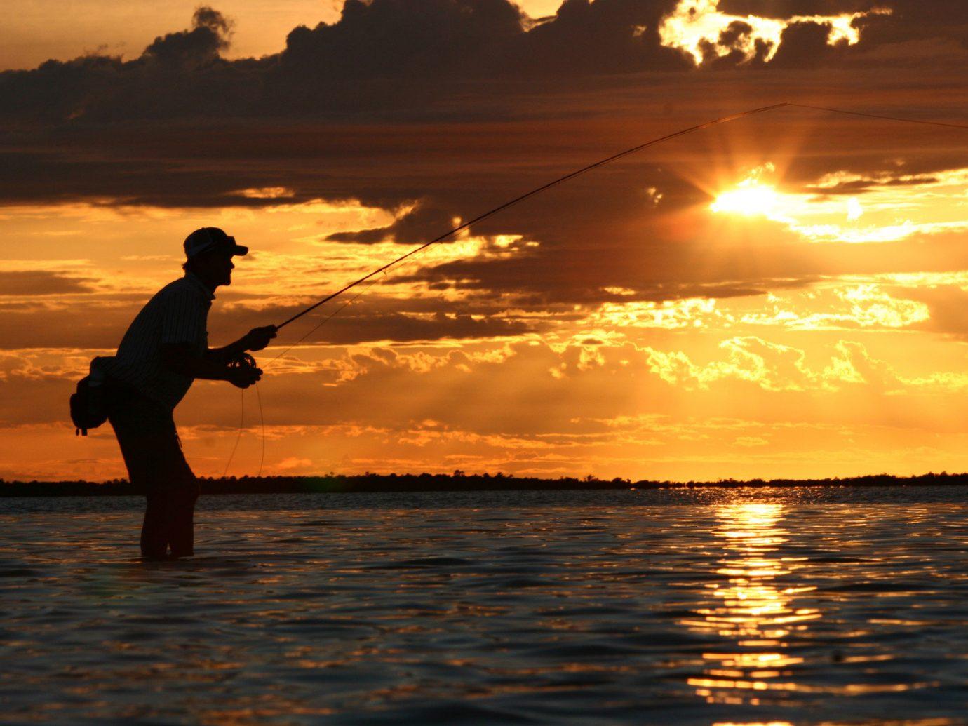 Trip Ideas water outdoor sky Sunset horizon Sea fishing cloud morning evening dusk sunrise Ocean sunlight dawn silhouette