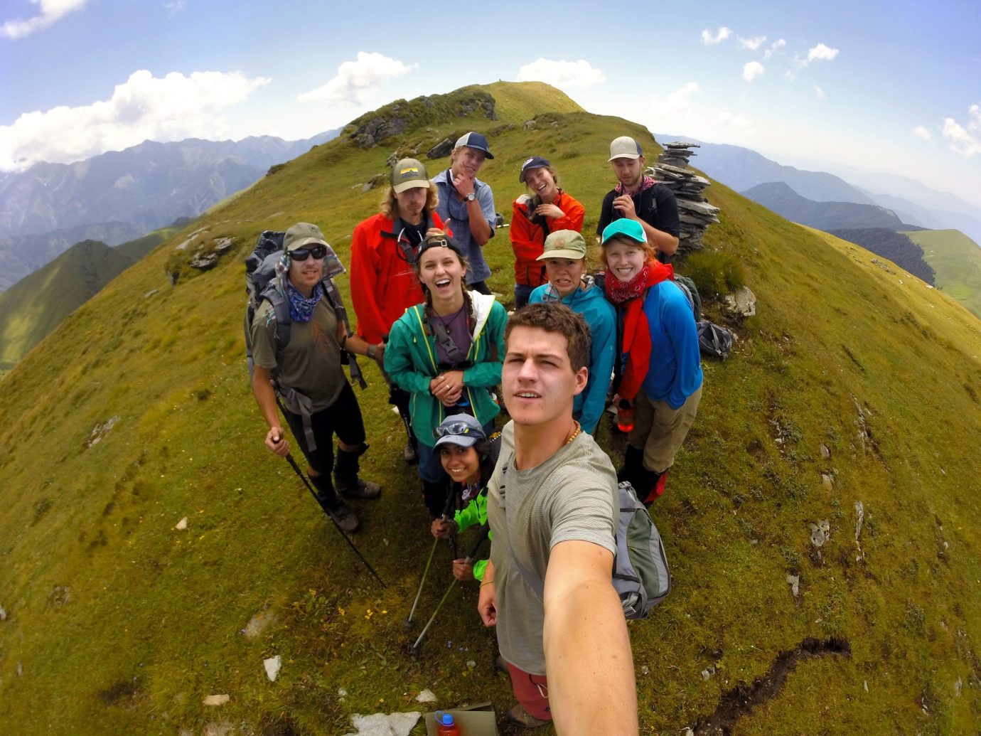 Trip Ideas sky outdoor mountain person grass Nature mountainous landforms sports hill ridge Adventure people mountaineering fell mountain range posing climbing group walking extreme sport hiking summit backpacking hillside highland