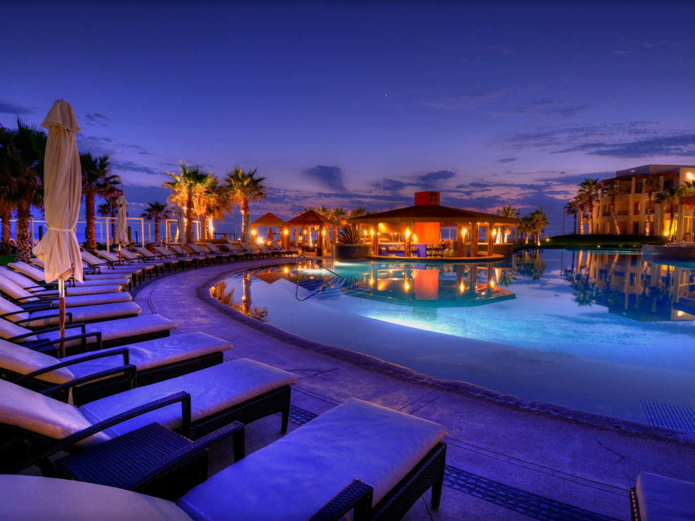 Pueblo Bonito Pacifica Resort & Spa Pool At Dusk
