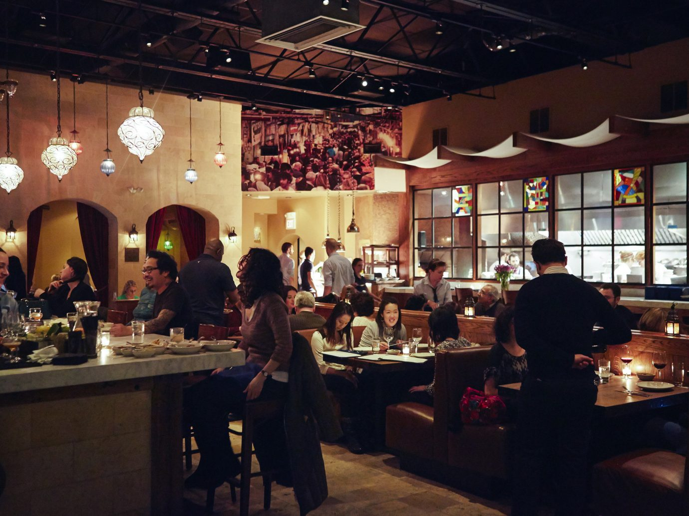 Food + Drink Phildelphia indoor person ceiling restaurant people interior design group café Bar coffeehouse cuisine function hall