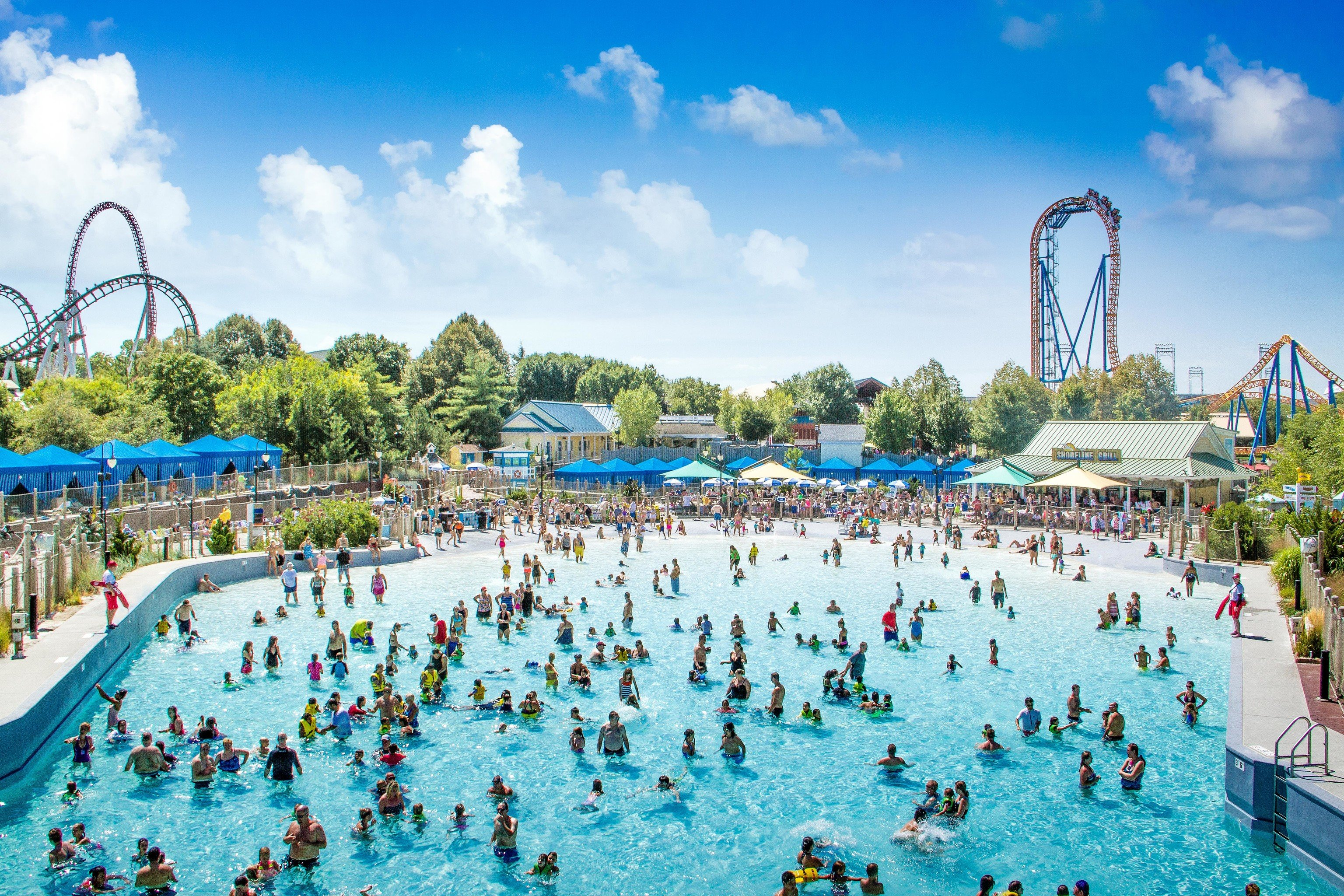 Trip Ideas Weekend Getaways sky outdoor amusement park Water park park leisure Resort people recreation nonbuilding structure outdoor recreation swimming pool swimming day crowd