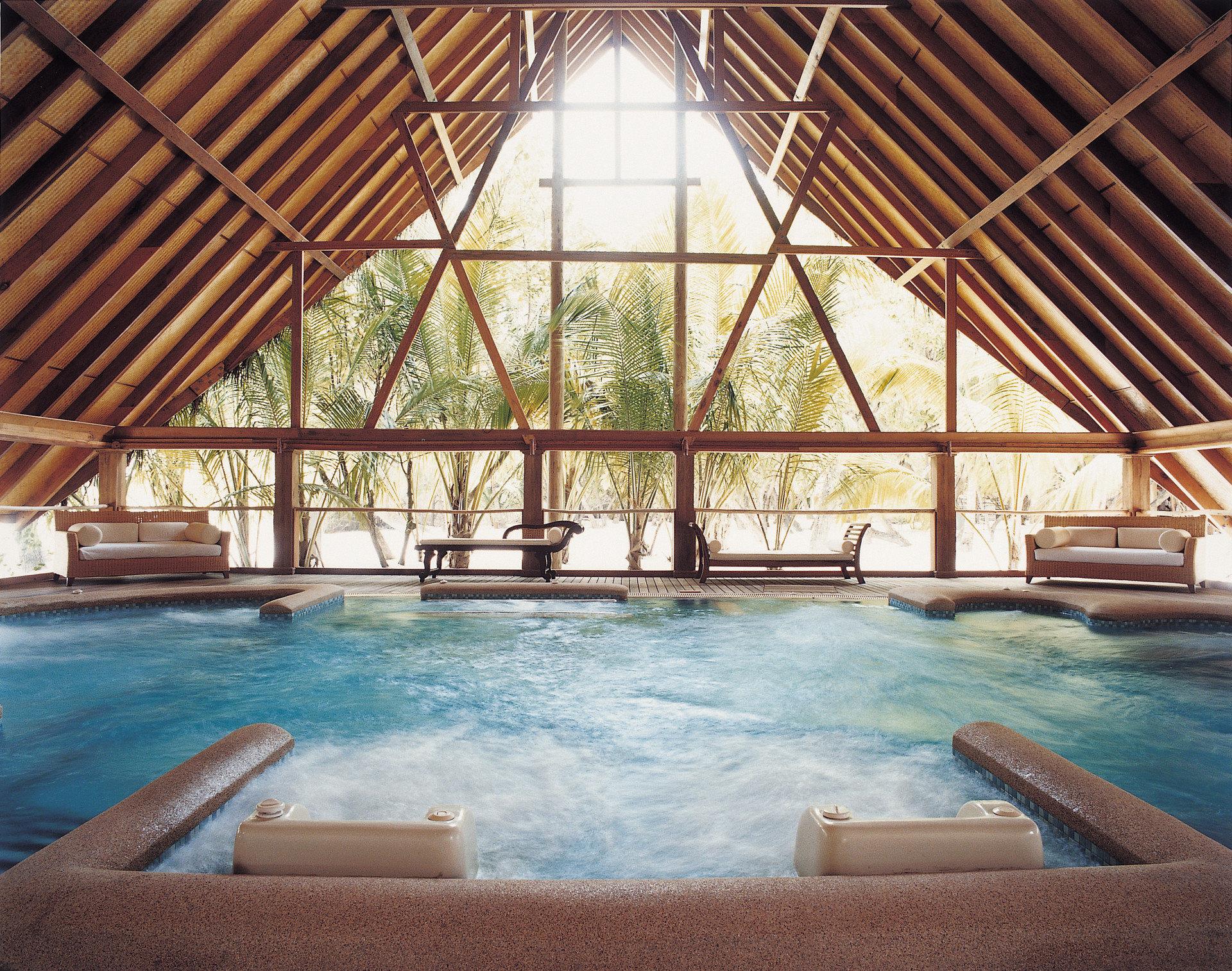 Hotels Living sofa room indoor swimming pool property building Resort estate cottage Villa eco hotel furniture