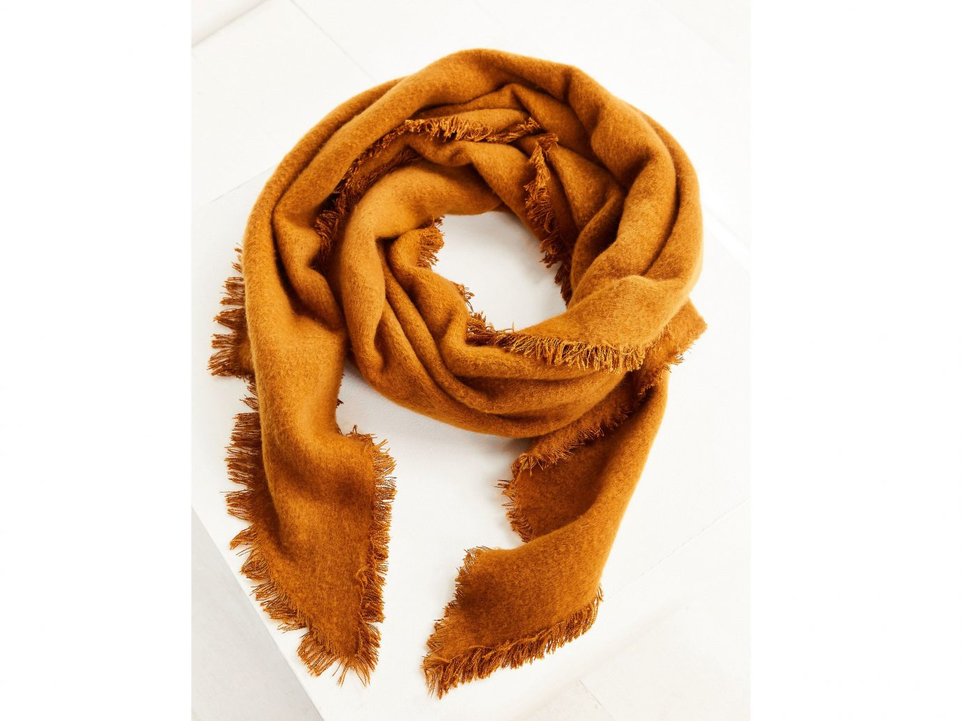 Style + Design scarf clothing fashion accessory orange brown cloth pattern textile wool