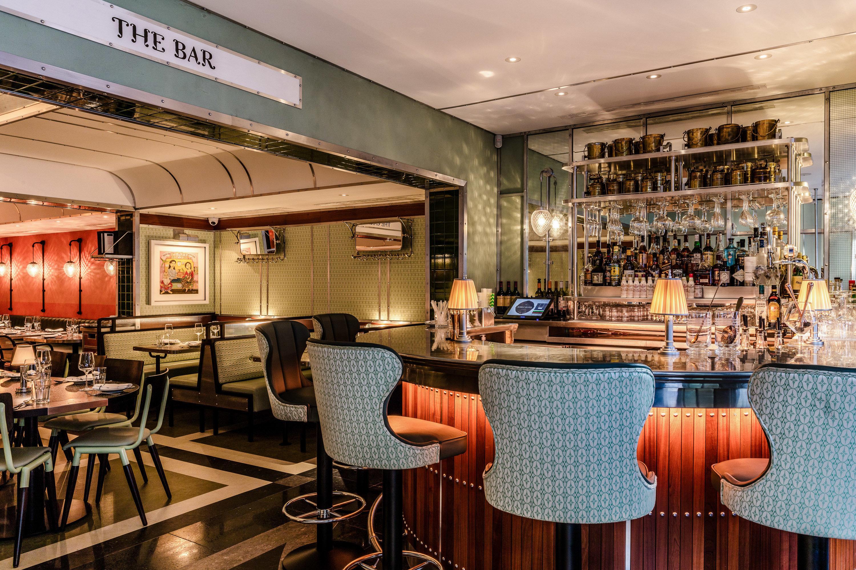 Food + Drink London indoor chair ceiling restaurant interior design Bar café table furniture several