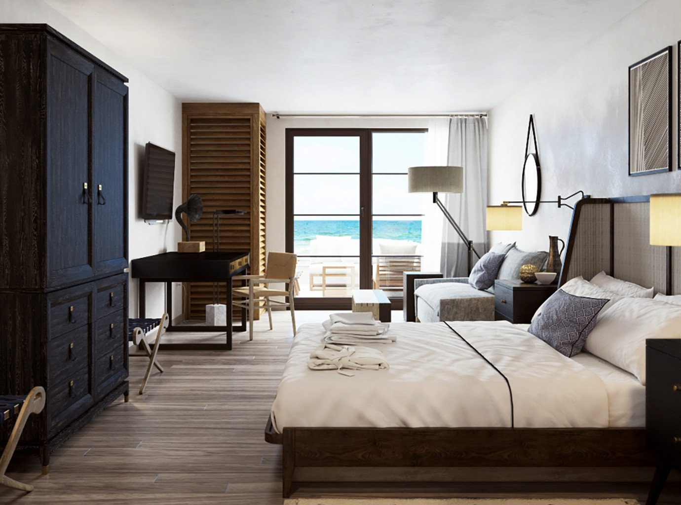 Bedroom Hotels Resort Trip Ideas indoor wall floor room property living room Living ceiling Suite estate condominium home interior design real estate cottage furniture Villa Design apartment decorated wood