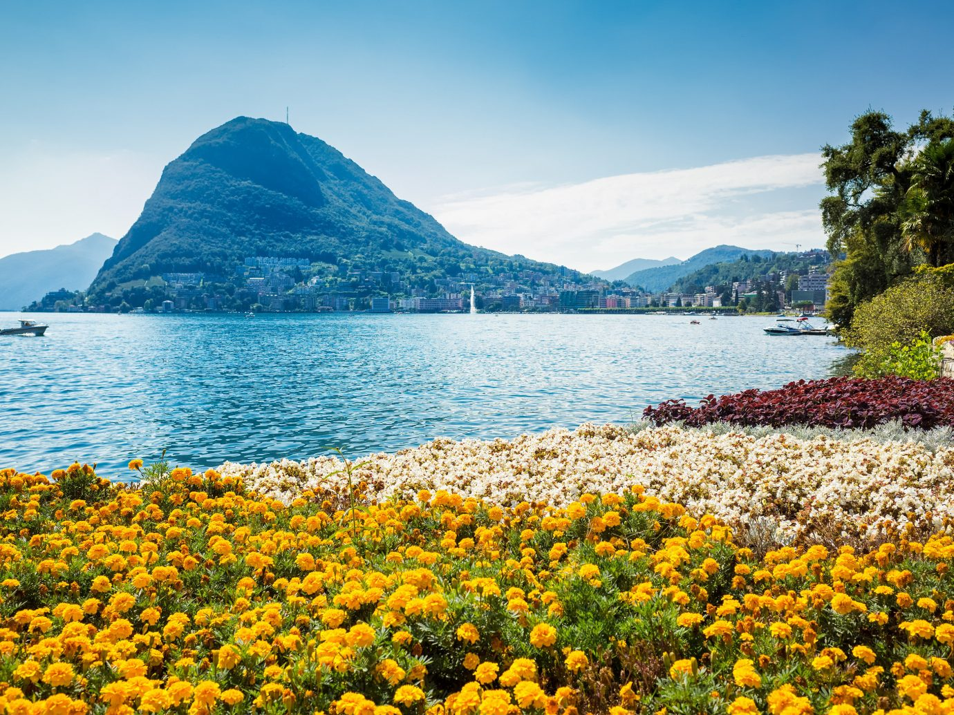 Lakes + Rivers Outdoors + Adventure water outdoor sky mountain Nature mountainous landforms landform geographical feature body of water Lake flower Sea Coast shore horizon landscape Ocean loch bay wildflower fjord mountain range overlooking surrounded Island day
