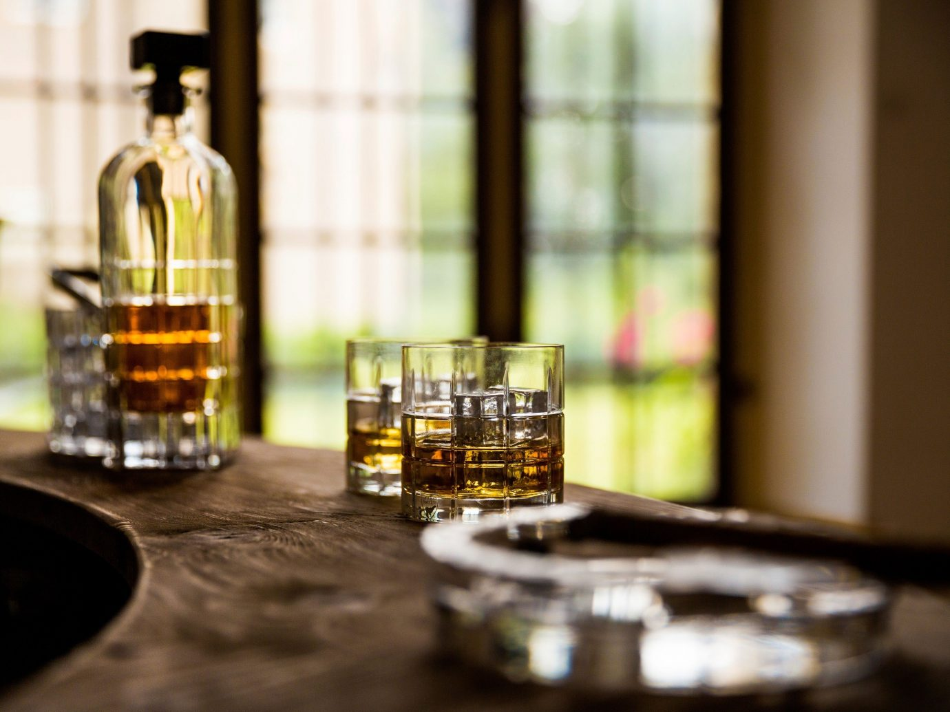 Offbeat table wine indoor glasses glass distilled beverage Drink lighting liqueur Bar Design counter whisky
