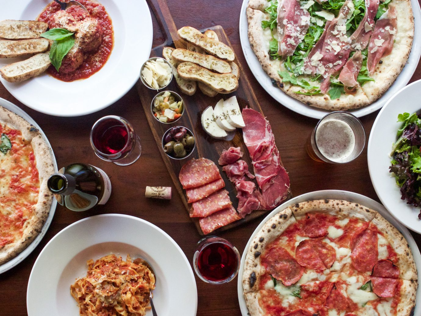 Trip Ideas food plate table dish different meal cuisine hors d oeuvre supper meat breakfast meze lunch items brunch pizza several various sliced containing toppings