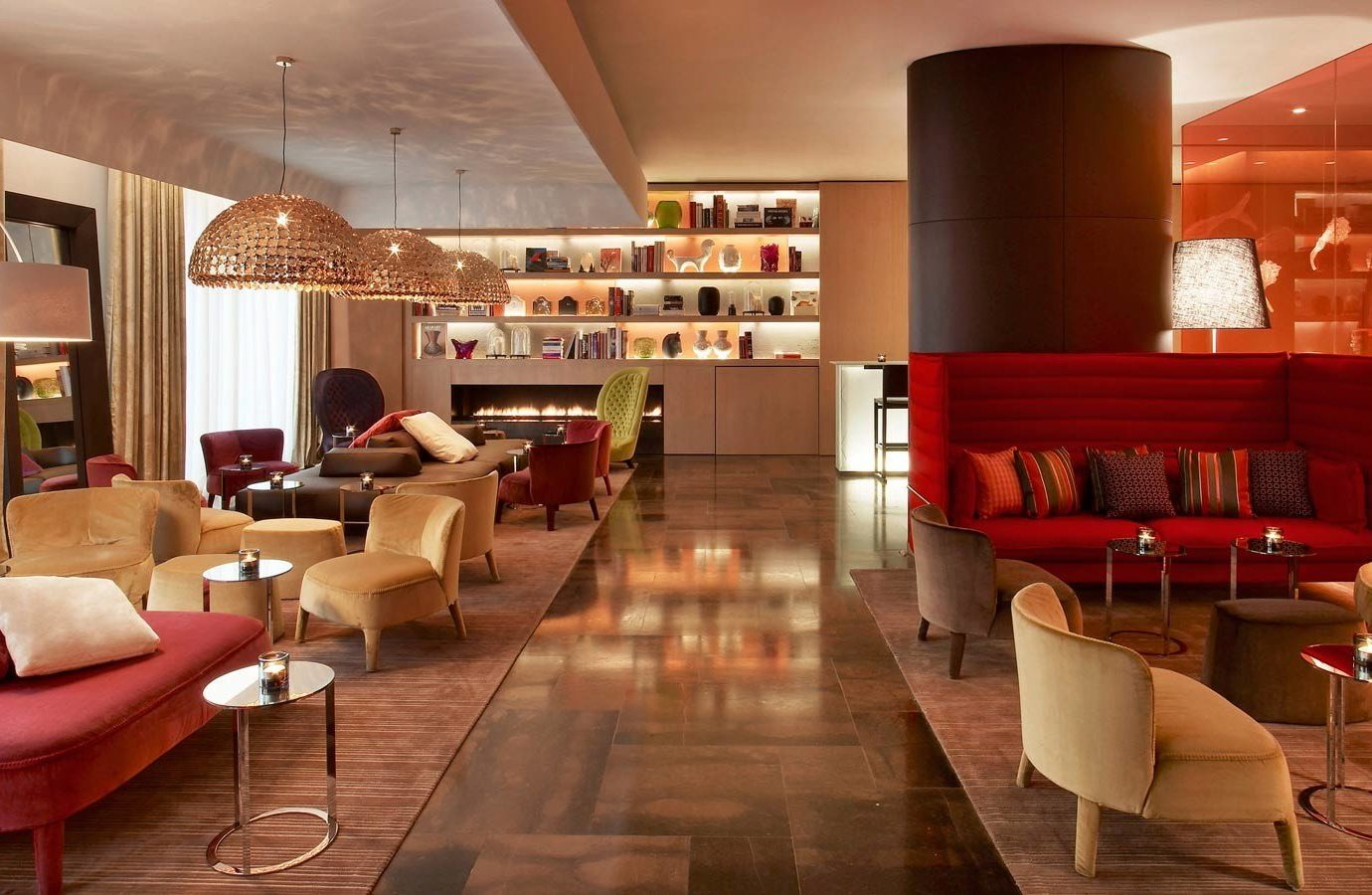 Hotels Luxury Travel indoor floor room Living ceiling interior design Lobby chair living room furniture restaurant café interior designer flooring table loft area