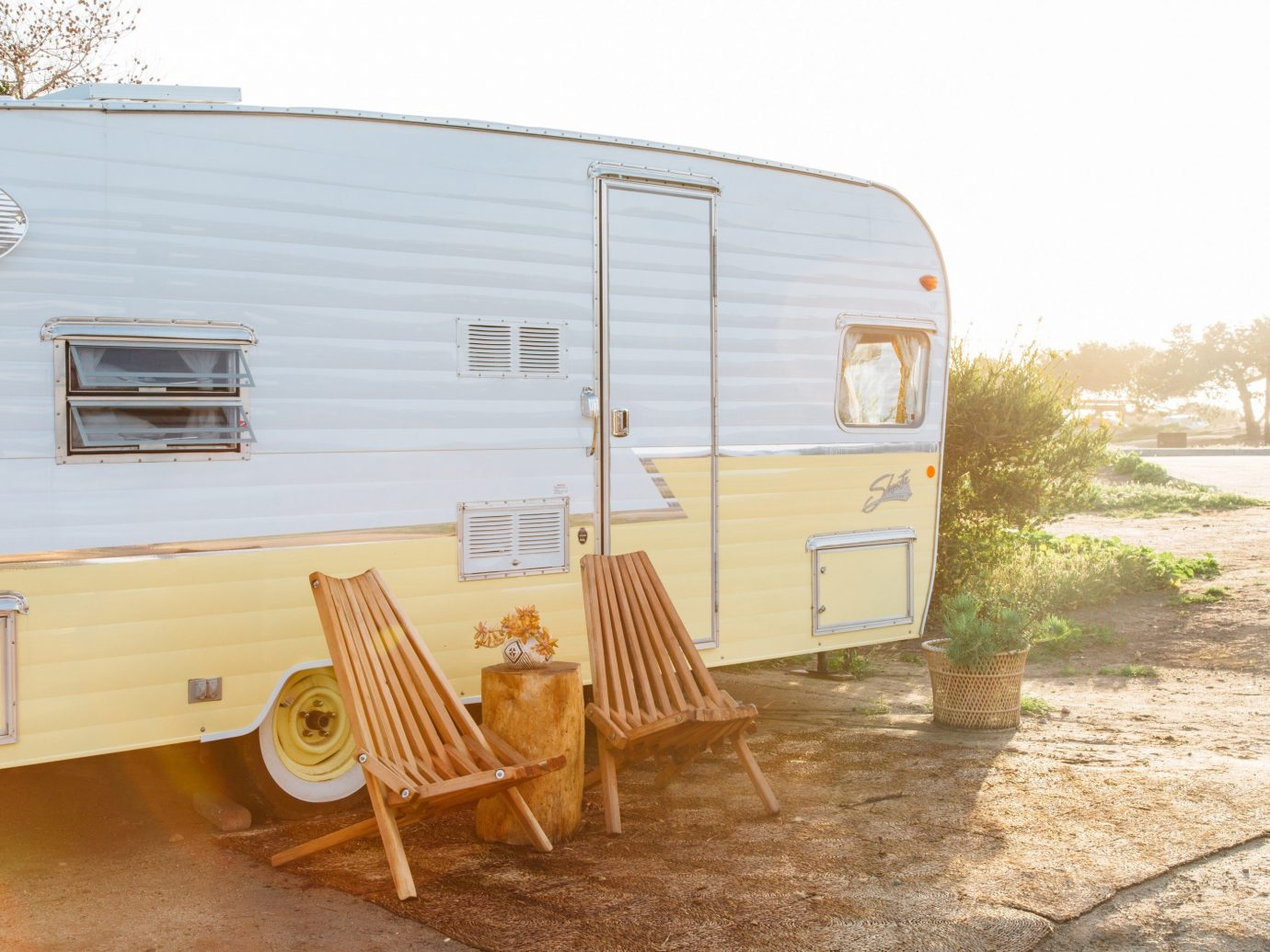 Trip Ideas sky trailer vehicle property camper cottage wooden real estate