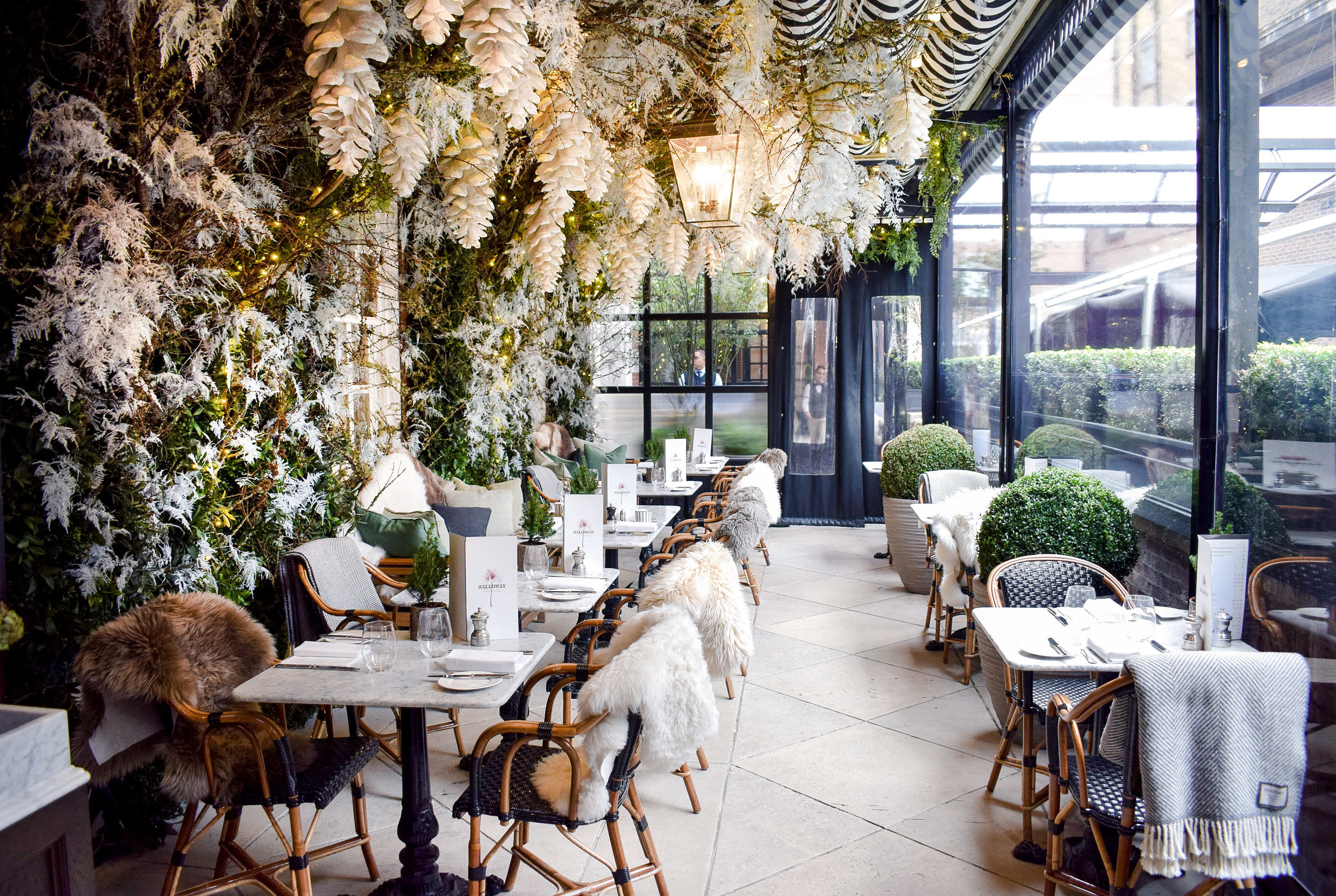 Food + Drink Trip Ideas interior design home plant restaurant tree outdoor structure Winter flower window furniture several