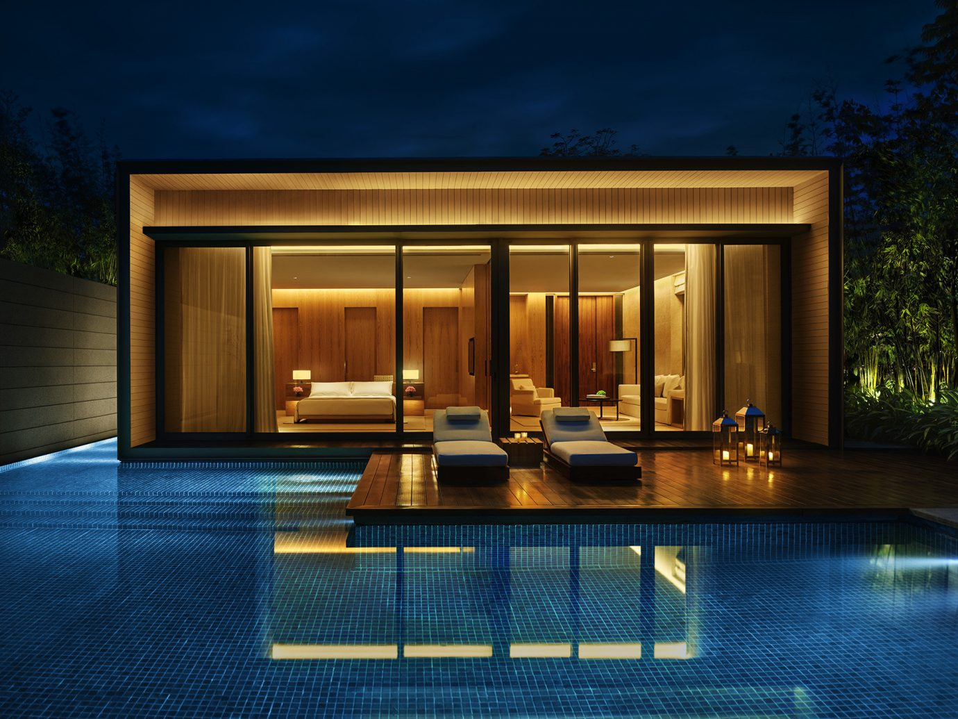 Trip Ideas property house Architecture swimming pool home estate facade condominium lighting interior design mansion Villa