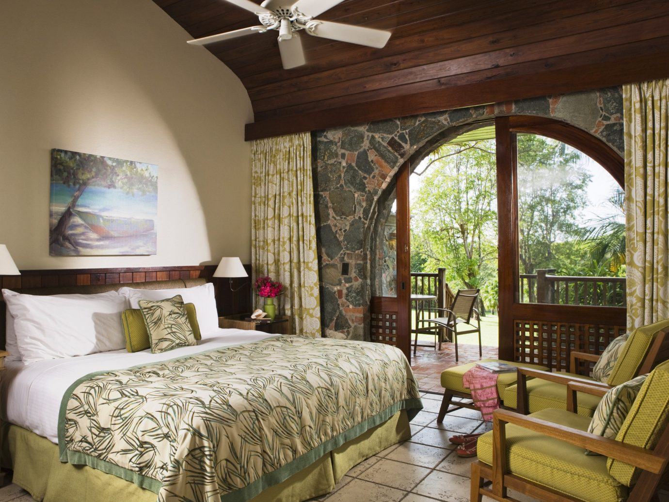 Bedroom Eco Family Hotels Luxury Resort Romance Romantic Scenic views Suite Trip Ideas Tropical indoor bed sofa room window property estate cottage home living room Villa interior design real estate farmhouse mansion furniture