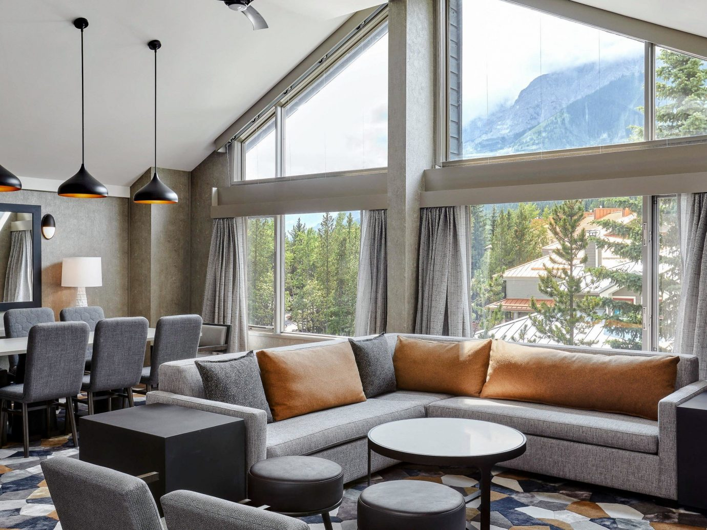 Alberta Boutique Hotels Canada Hotels Road Trips window indoor Living room sofa floor living room interior design furniture real estate house ceiling window treatment interior designer daylighting area decorated leather