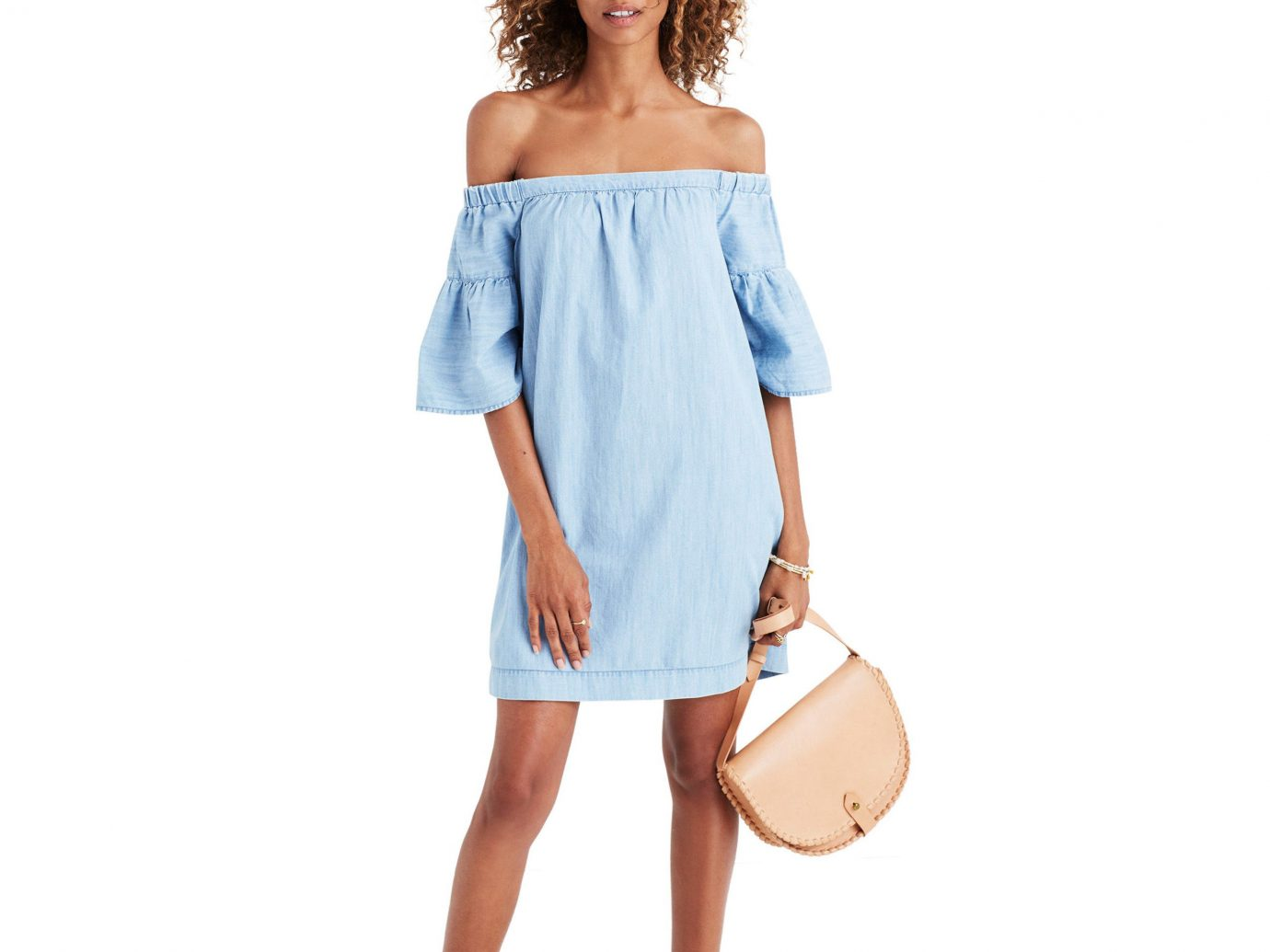 Style + Design person joint shoulder day dress electric blue neck fashion model posing