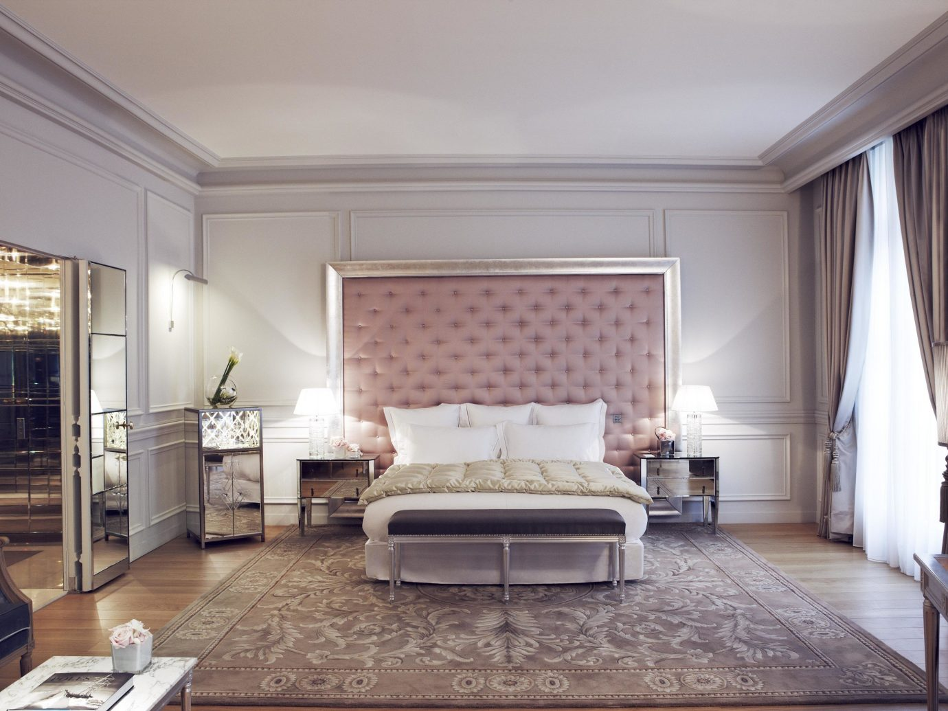 France Hotels Paris Trip Ideas indoor wall floor room property ceiling Living living room Bedroom estate Suite interior design real estate hardwood home condominium mansion Design furniture apartment