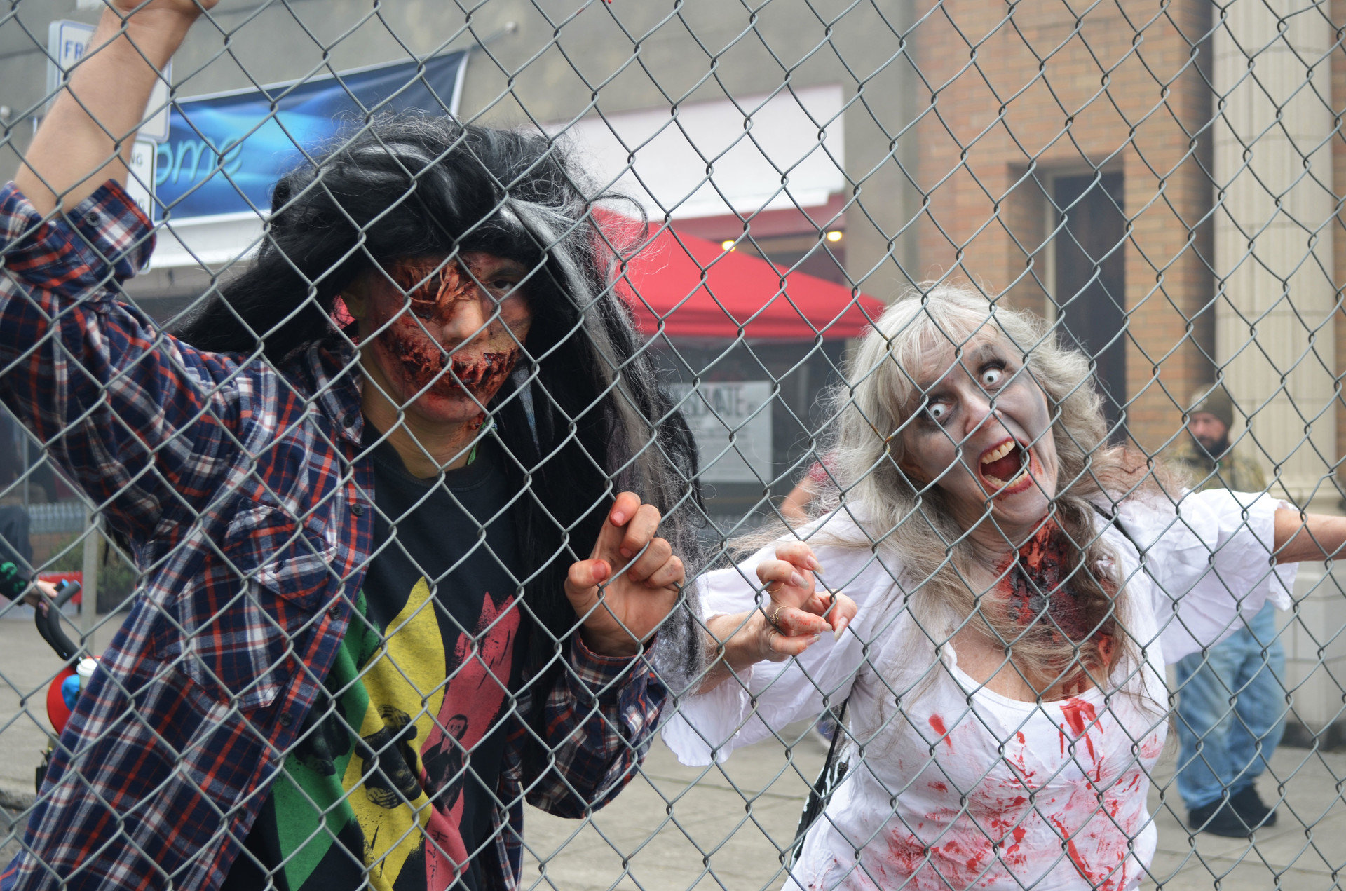 costume Fence festival festive fun halloween holiday parade people scary Trip Ideas person child interaction