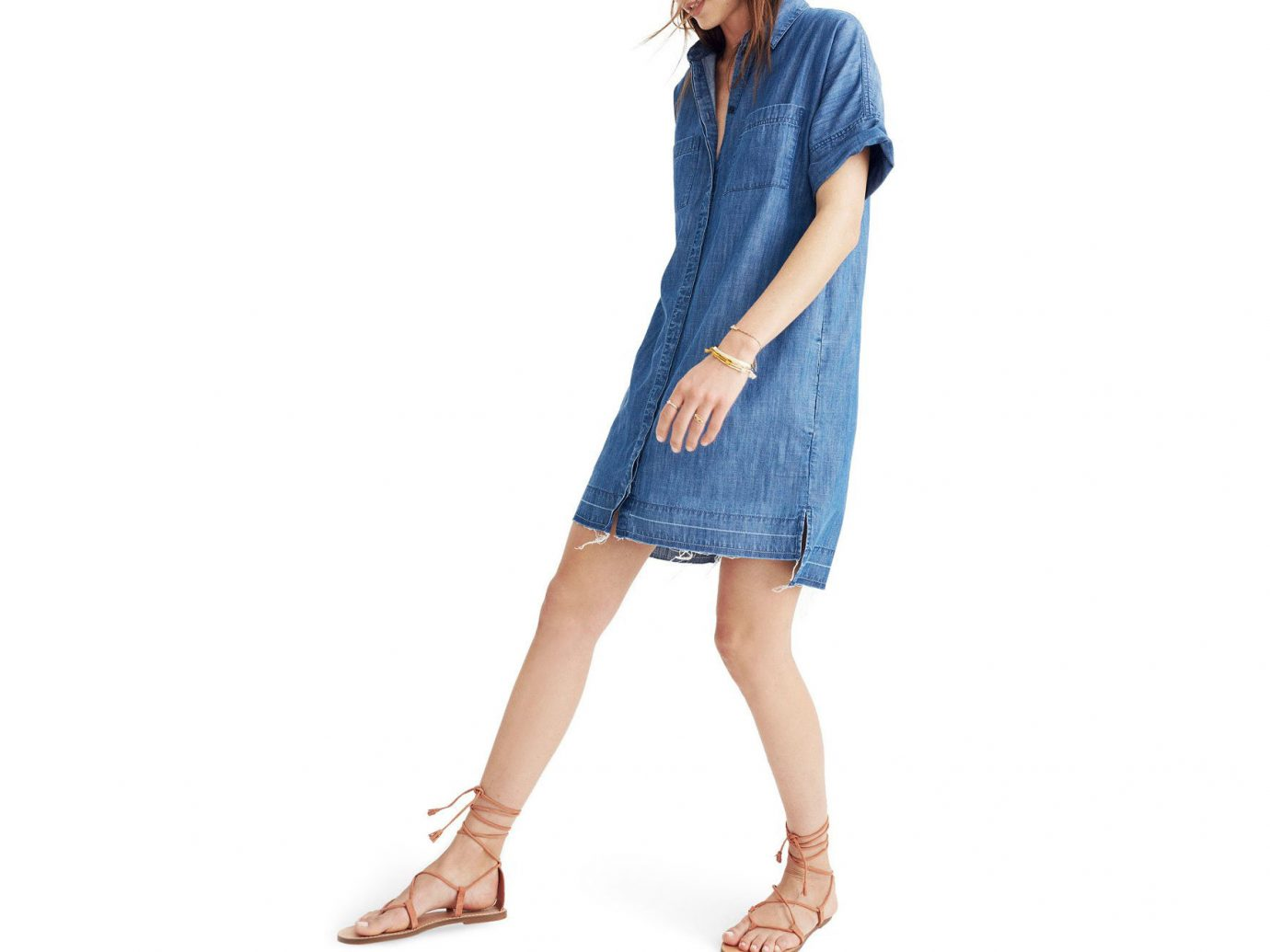 Cruise Travel Style + Design person clothing denim sleeve dress jeans pattern posing outerwear textile gown blue photo shoot t shirt Design neck pocket abdomen