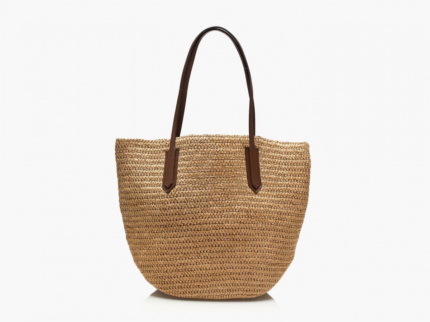 Style + Design handbag basket bag container brown fashion accessory shoulder bag tote bag beige straw pattern leather