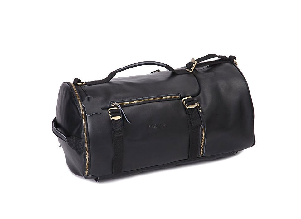 Style + Design bag accessory luggage black suitcase shoulder bag handbag leather hand luggage case