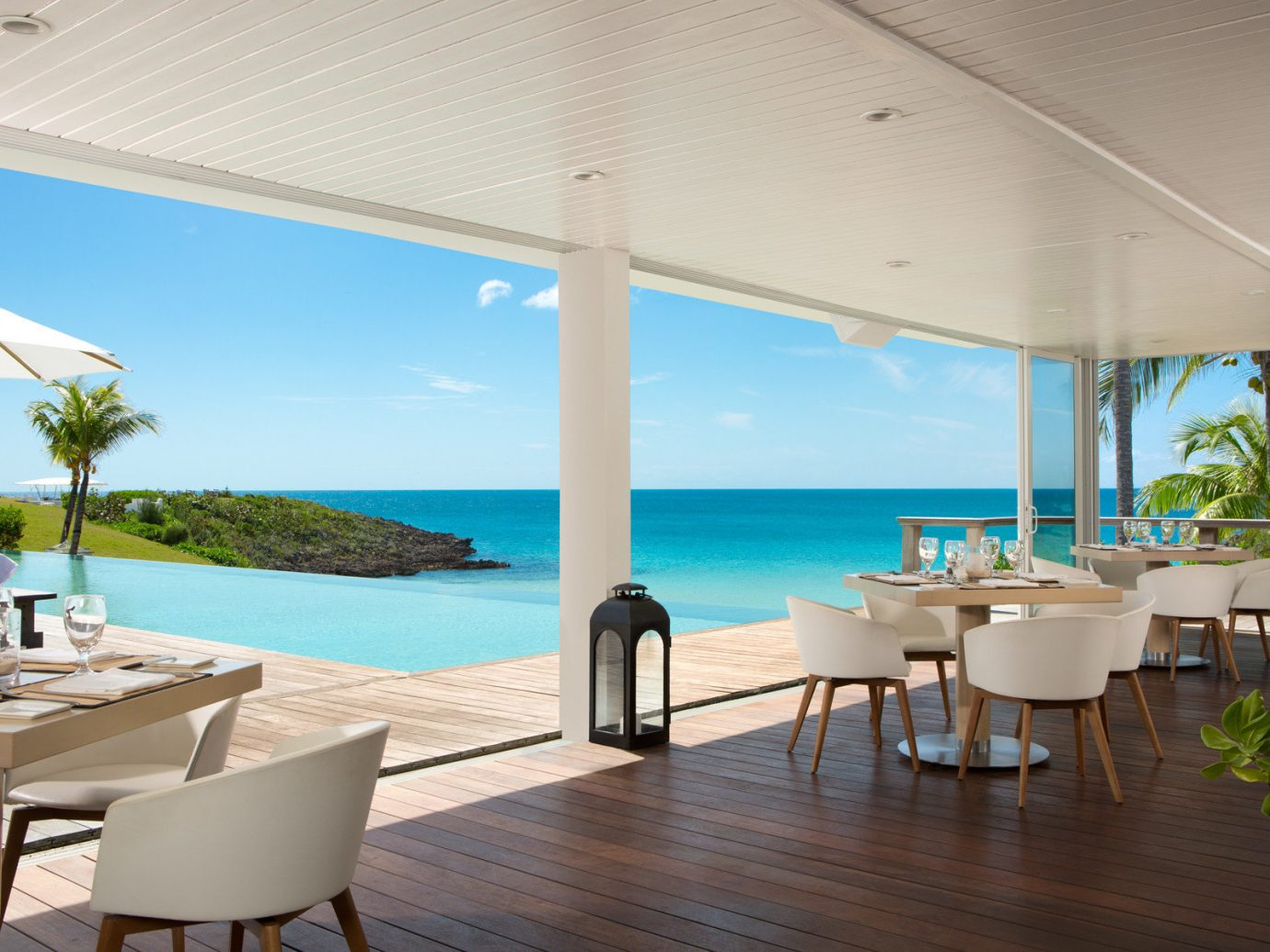 Restaurant view at The Cove Eleuthera