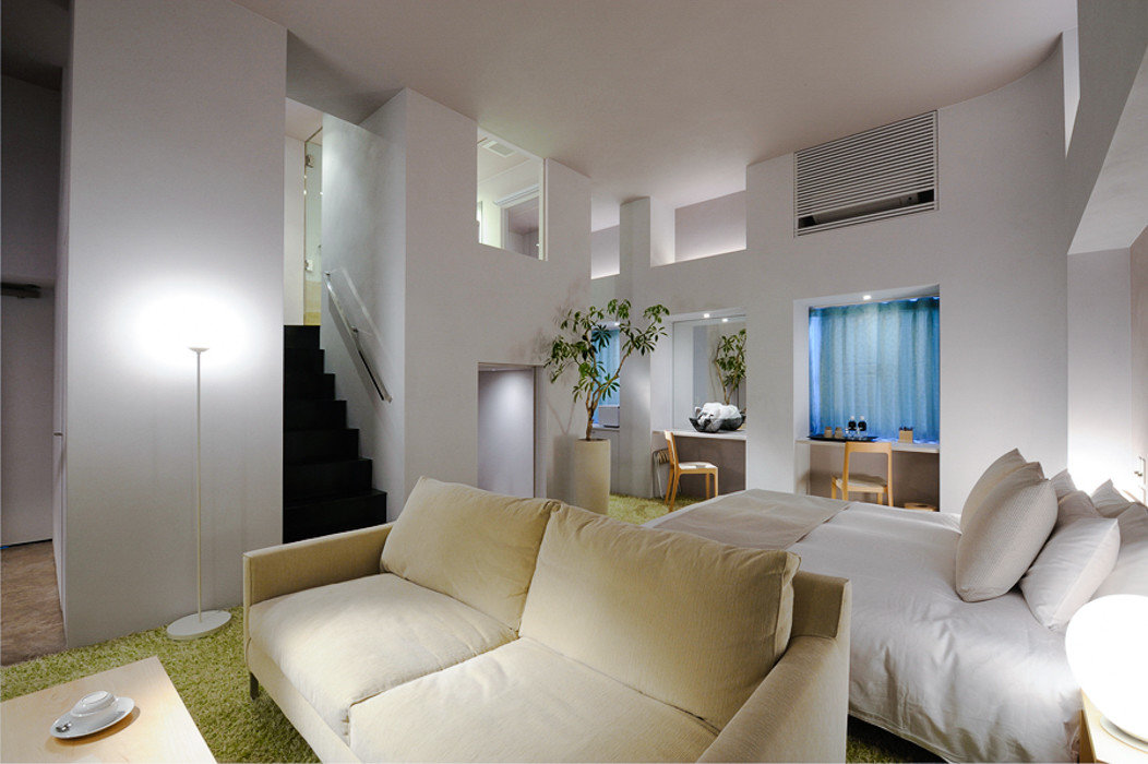 Trip Ideas wall indoor sofa room ceiling floor Living living room property interior design Architecture Suite real estate white interior designer hotel apartment house angle window penthouse apartment estate loft furniture