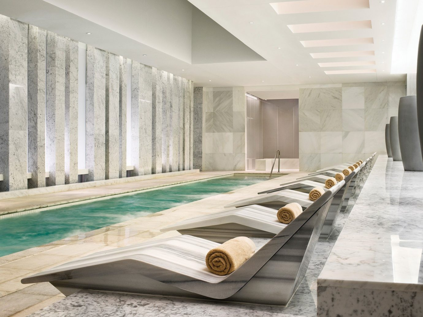 Food + Drink Girls Getaways Hotels Jetsetter Guides shopping Style + Design Weekend Getaways indoor Architecture interior design daylighting swimming pool angle amenity stone furniture