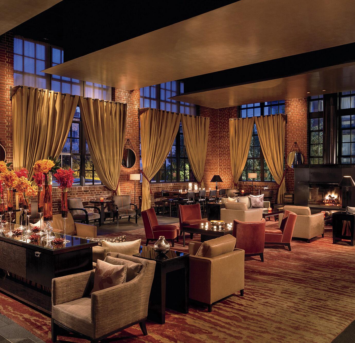 Dining room at The Ritz-Carlton Georgetown, Washington, D.C.