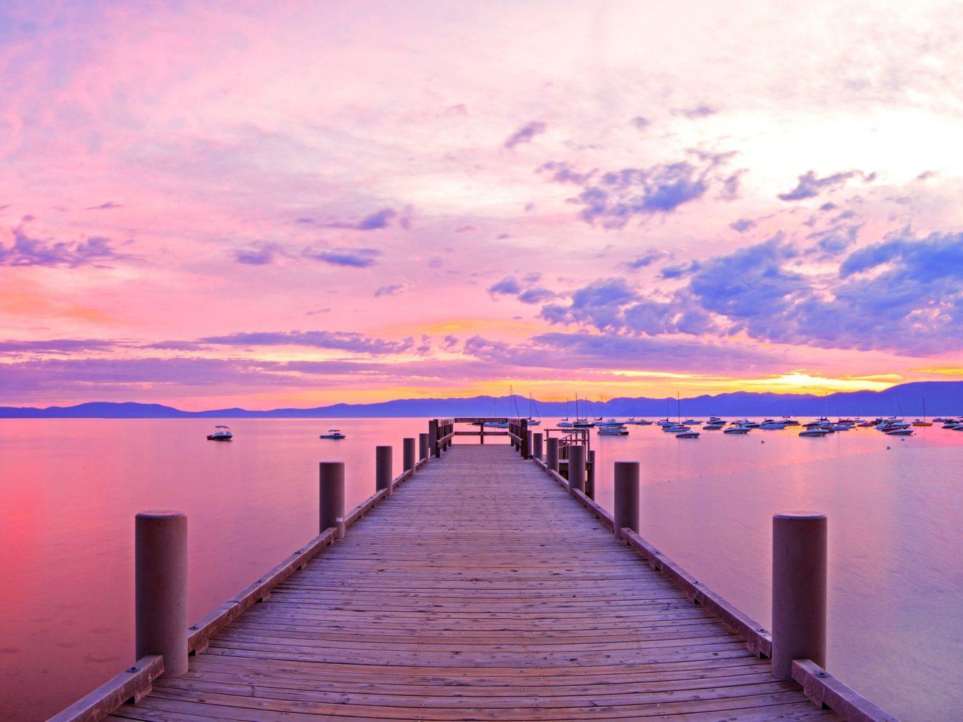 Trip Ideas water scene sky pier outdoor Boat River atmospheric phenomenon horizon dawn sunrise cloud reflection afterglow morning Lake Sunset dusk evening Sea dock shore distance