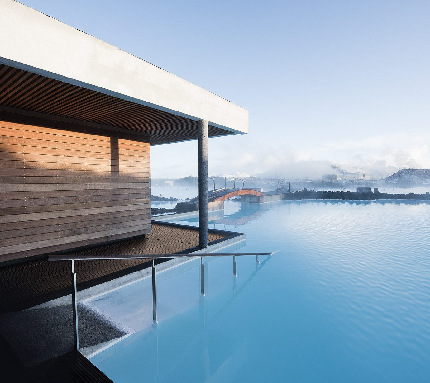 europe Hotels Iceland Trip Ideas reflection water Architecture sky house swimming pool real estate daylighting Sea building condominium facade window