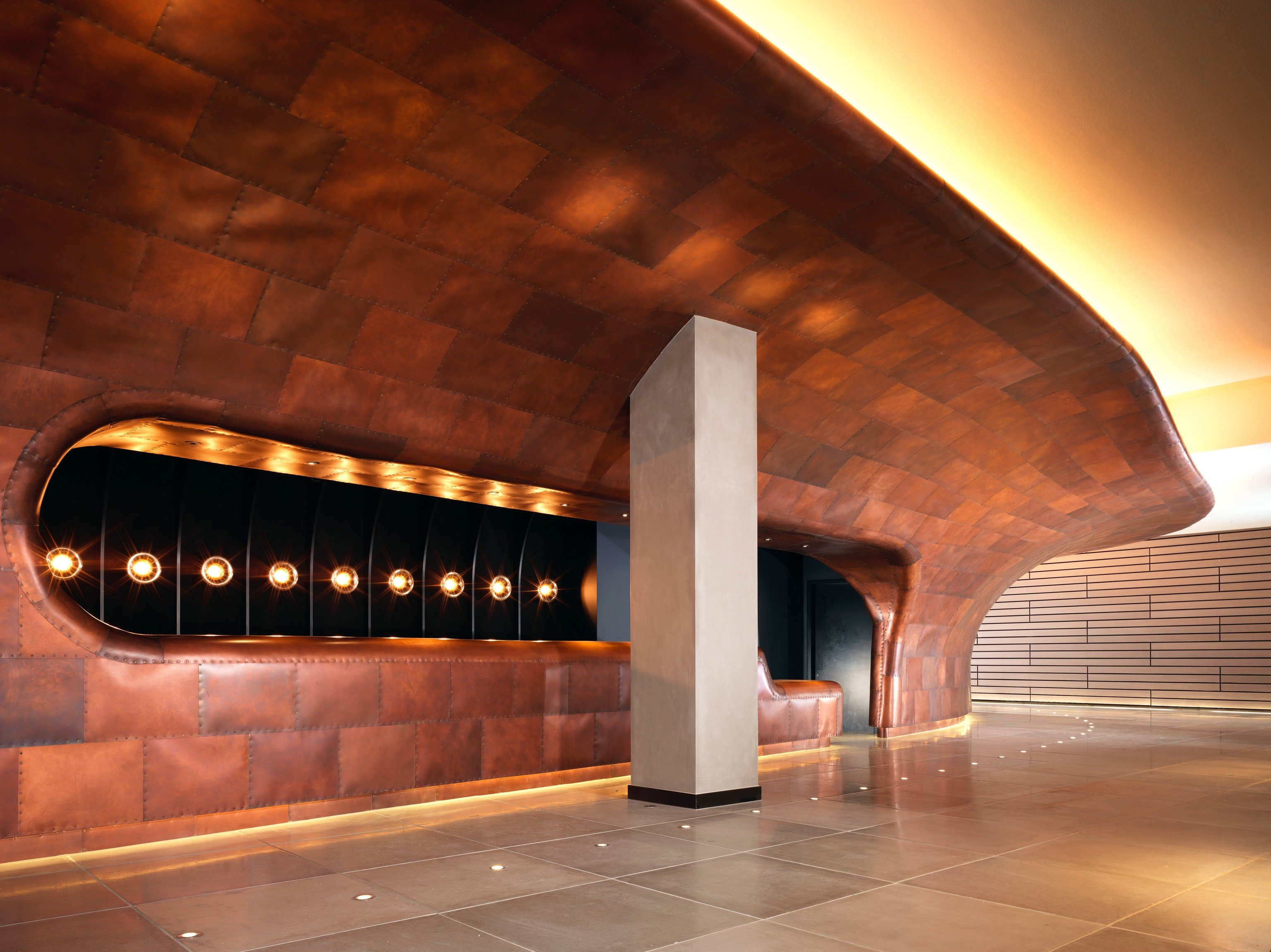 Hotels indoor Architecture night arch light subway public transport auditorium metro station