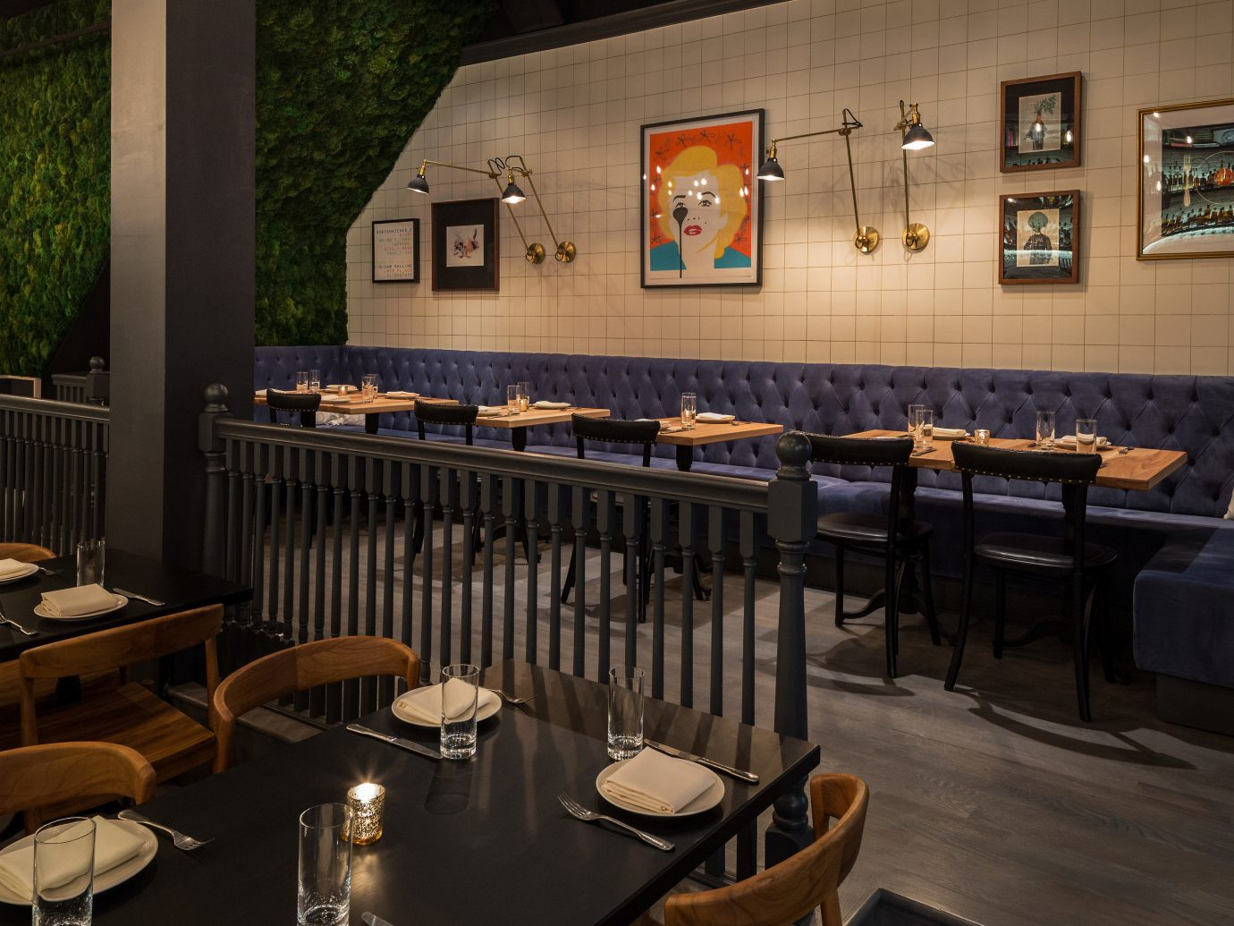 Food + Drink restaurant indoor chair table interior design tavern café Bar several dining room