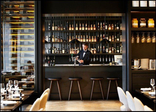 Food + Drink indoor window Bar restaurant shelf interior design café Drink
