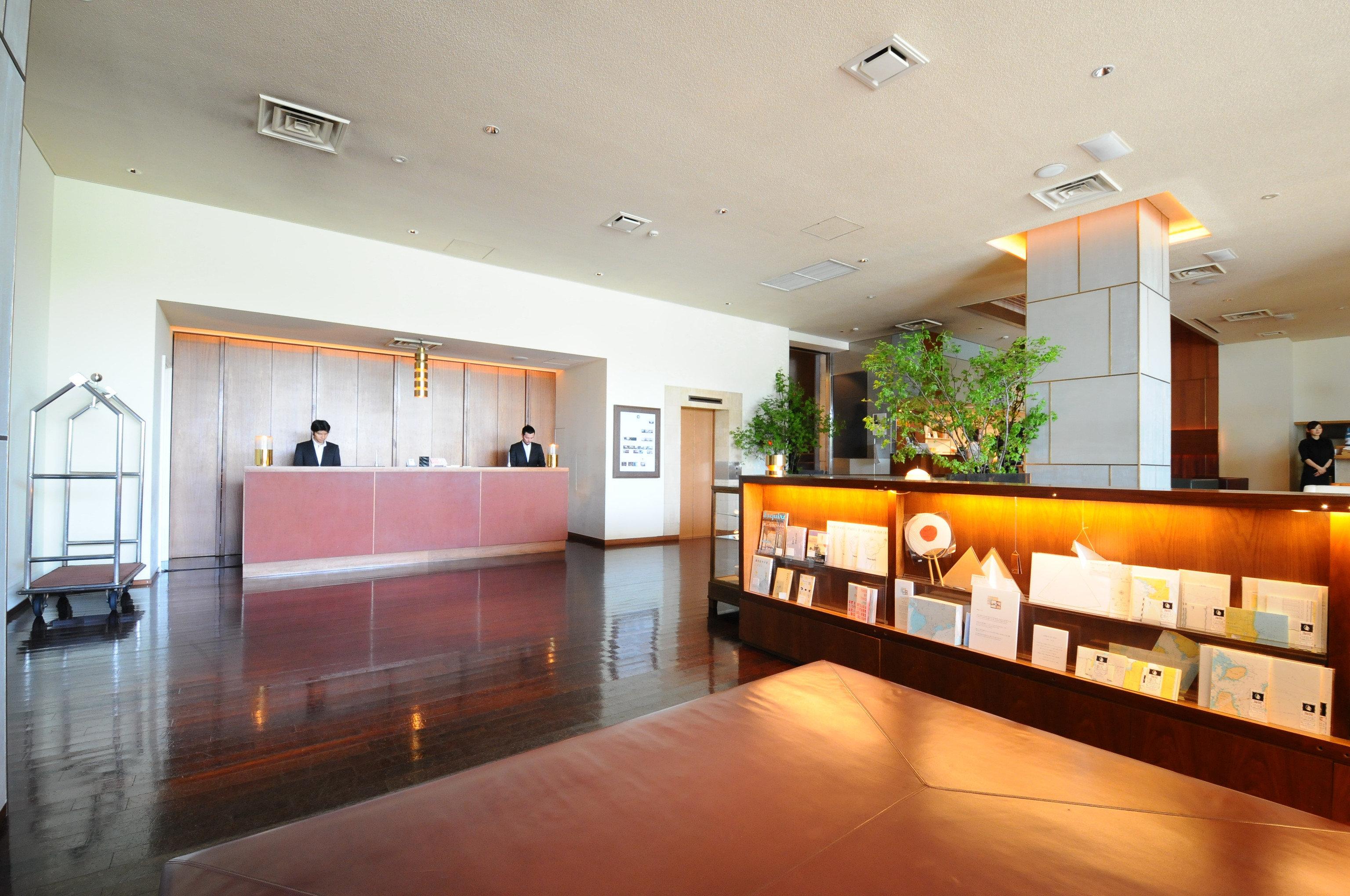 Hotels Japan Tokyo floor indoor wall ceiling Lobby property room Living interior design estate real estate condominium home Design living room furniture wood