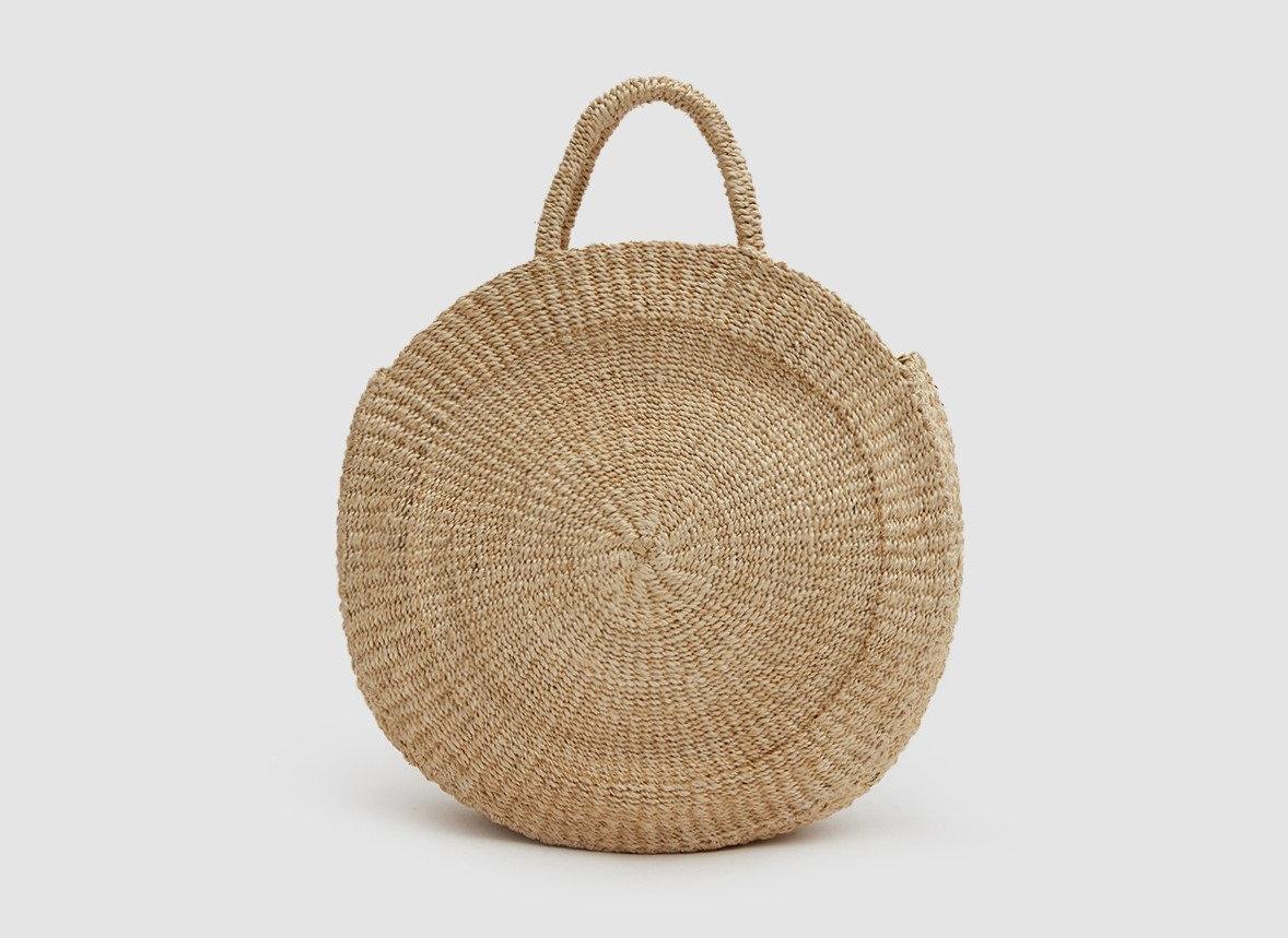 Trip Ideas melon basket sweet melon product design wicker storage basket product beige stone