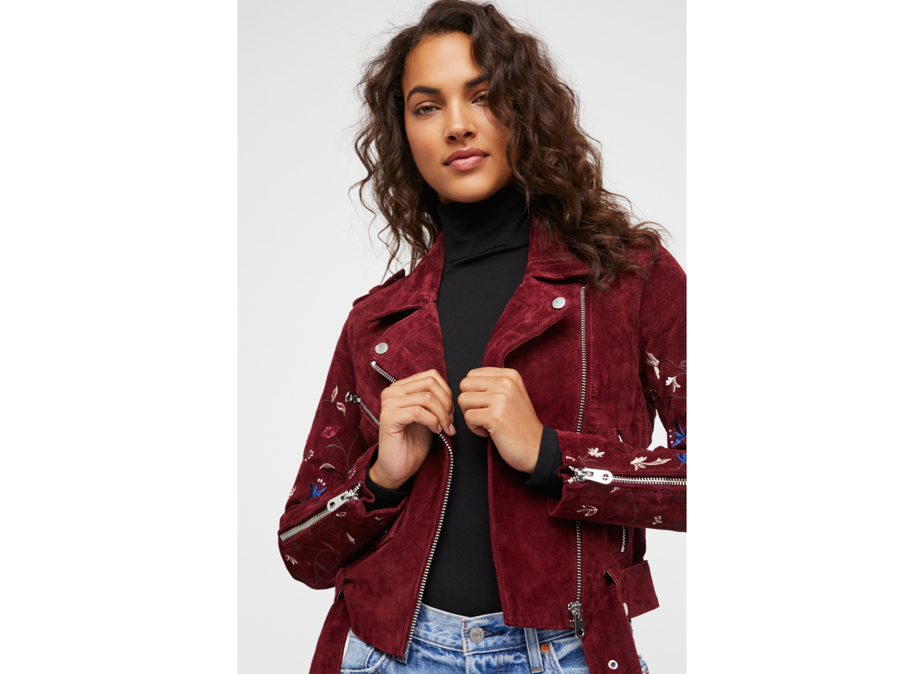 Travel Shop person clothing jacket fashion model cellphone red standing fashion coat outerwear posing blazer leather jacket lady model sleeve pattern dressed