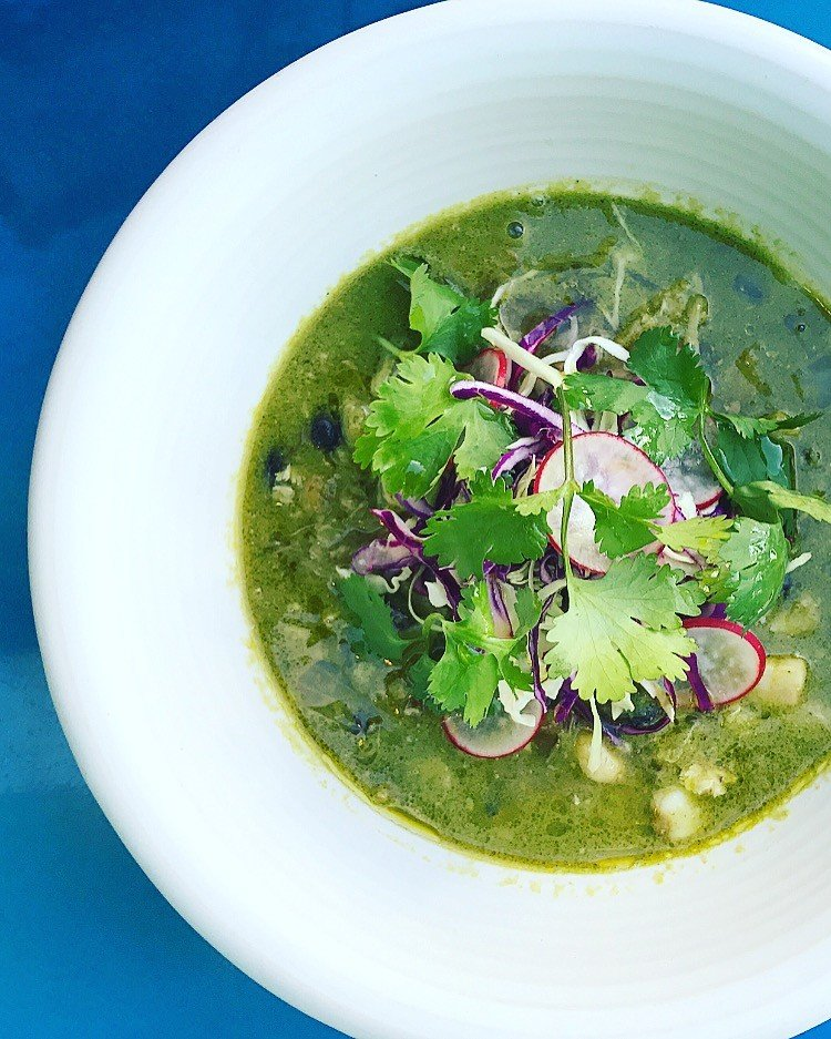 Trip Ideas plate food dish green bowl soup plant produce vegetable green sauce cuisine leaf vegetable vegetarian food flowering plant herb blue meat containing