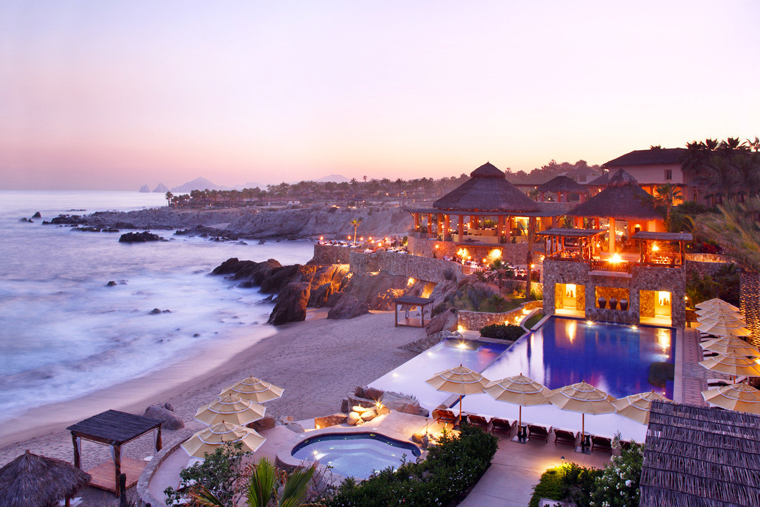 Hotels Romance outdoor sky water Resort Beach vacation evening Sea Coast Nature dusk Sunset